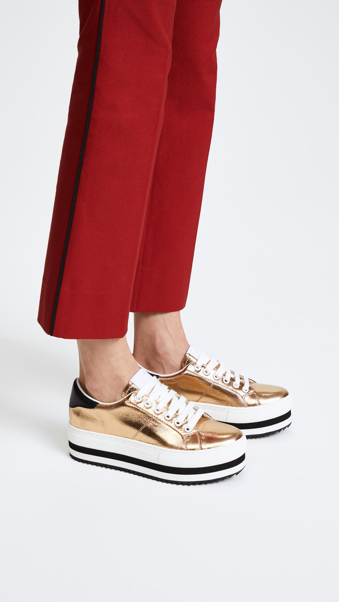 691e2acc8efb Lyst - Marc Jacobs Grand Platform Sneakers in Metallic
