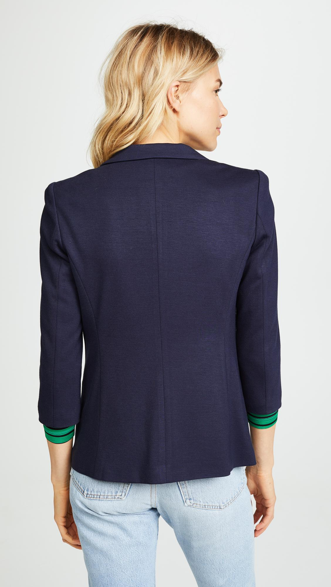 James Jeans Synthetic Shrunken One-button Tuxedo Jacket, Navy in Blue