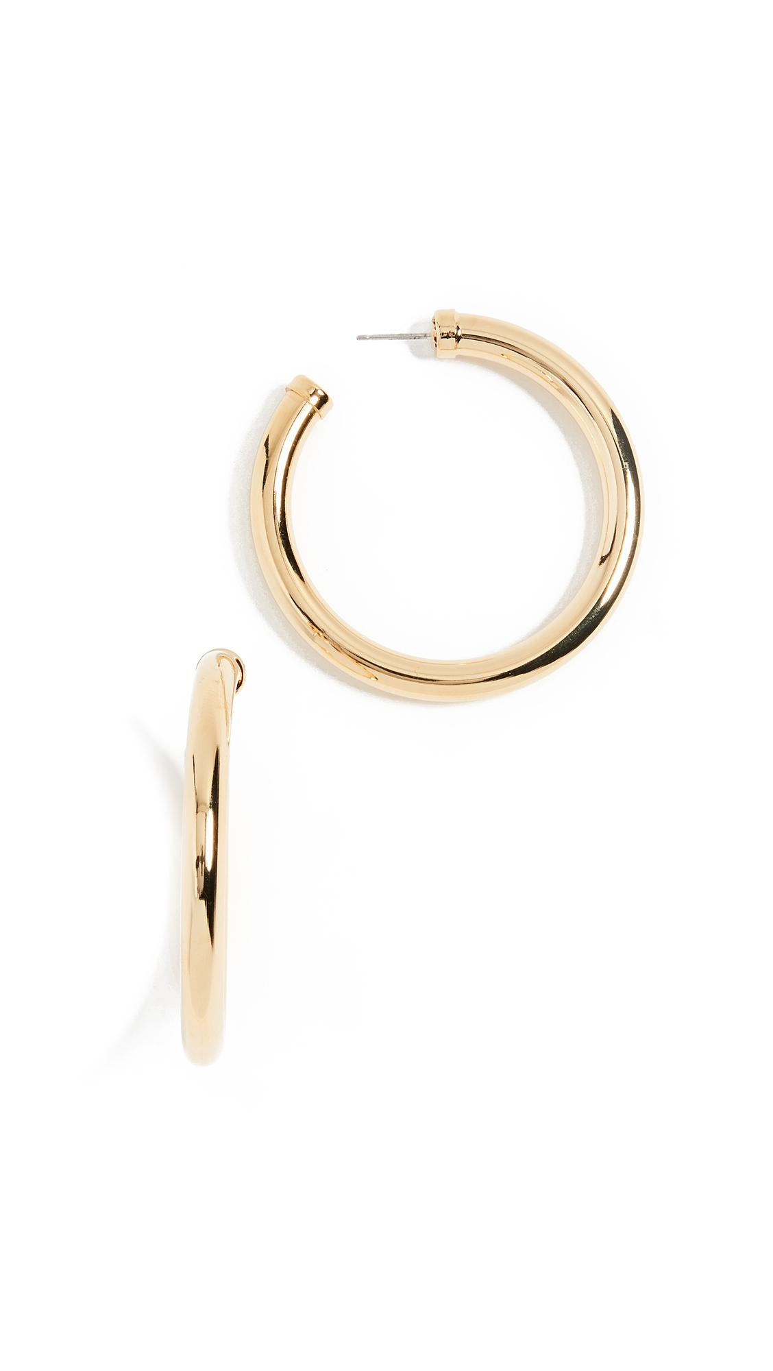 Kenneth Jay Lane Womens Tube Hoop Earrings ZnYc5L9eUd