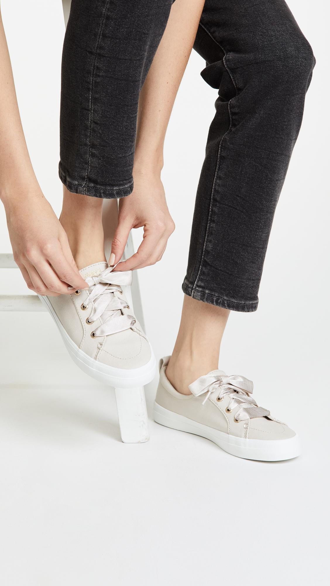 new product get online super popular Crest Vibe Satin Lace Sneakers