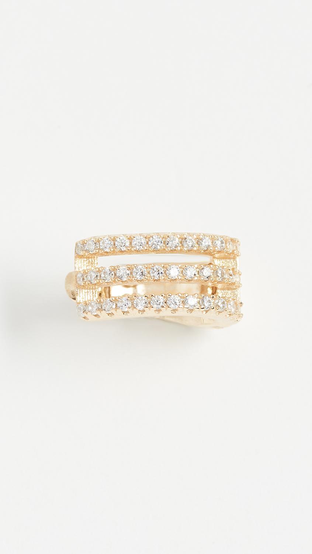 Dutch Basics Gold Plated Pair Diamond Shaped Drop Chain Earrings PveSj