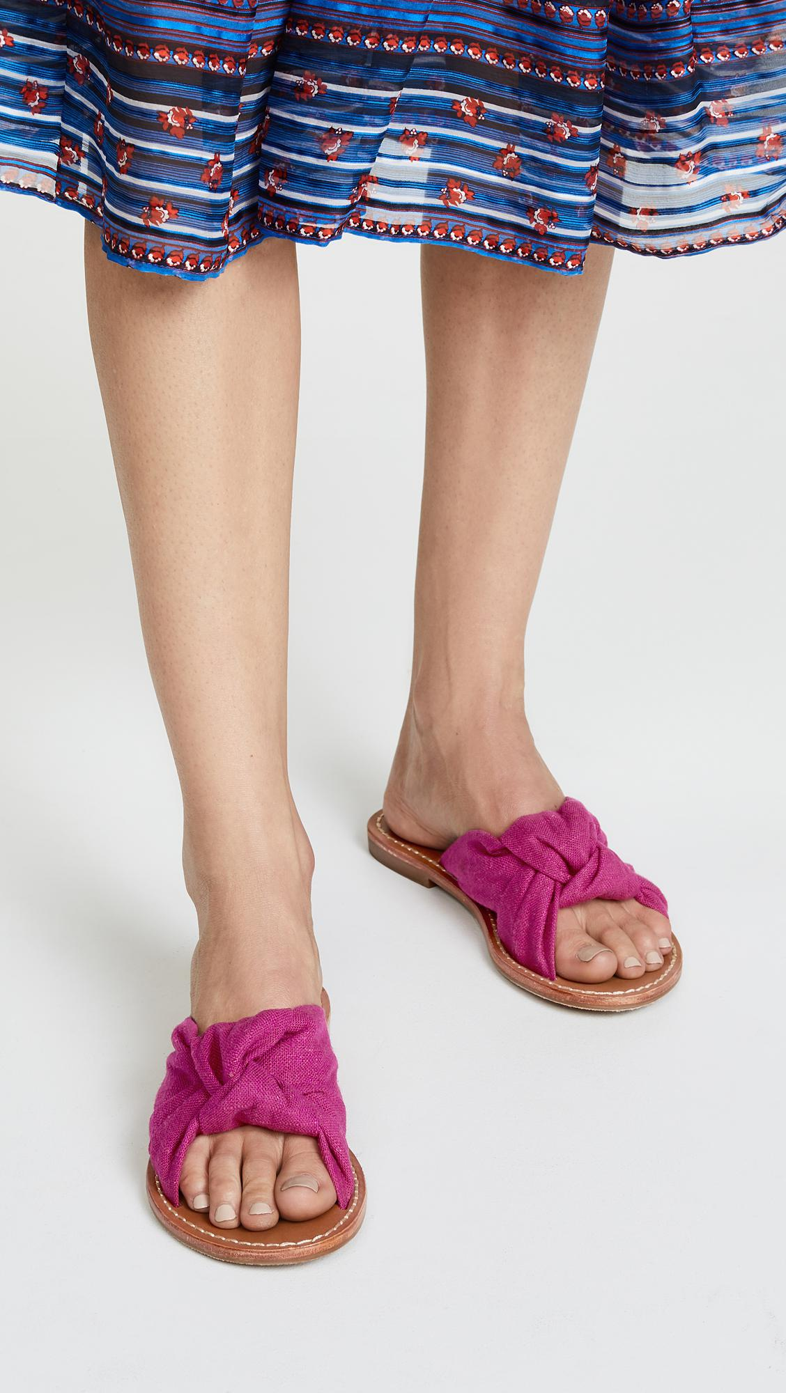 fc8f0d4470cb Lyst - Soludos Knotted Slide Sandals in Purple