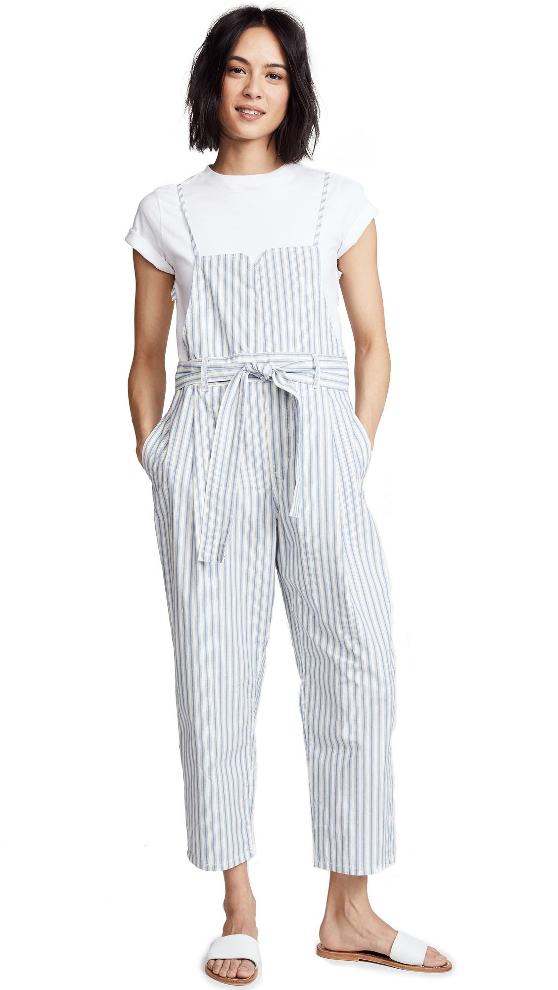 ce48c30595c8 Lyst - Free People Isabelle Pegged Jumpsuit in Blue