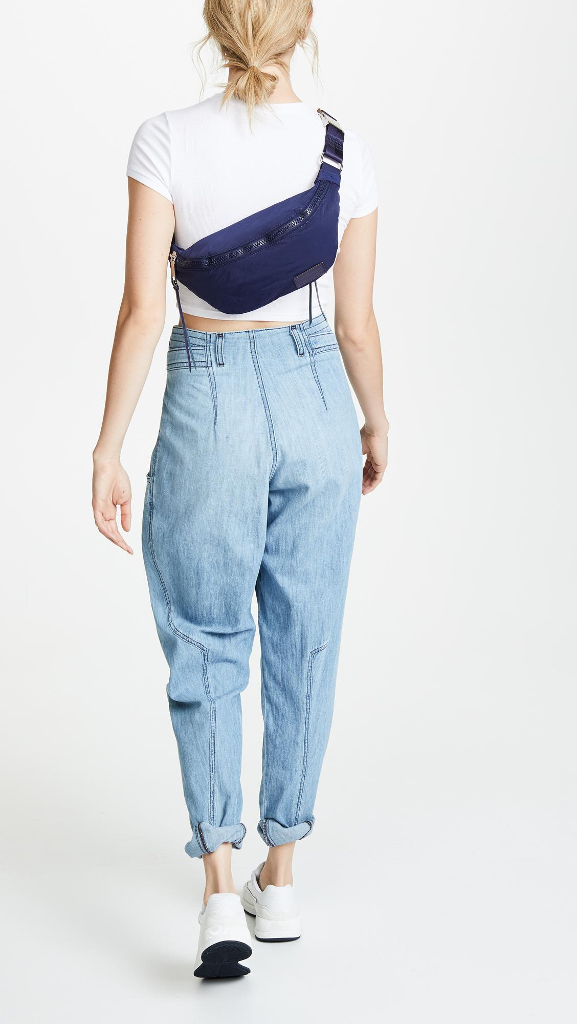 5846f824684 Rebecca Minkoff Nylon Belt Bag in Blue - Lyst