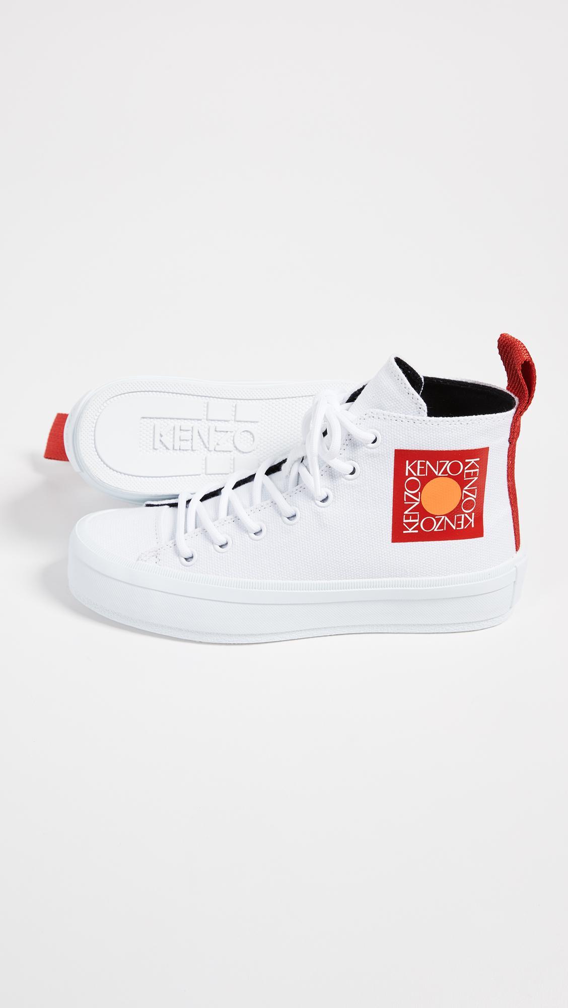 KENZO Canvas K-street Hi-top Sneakers