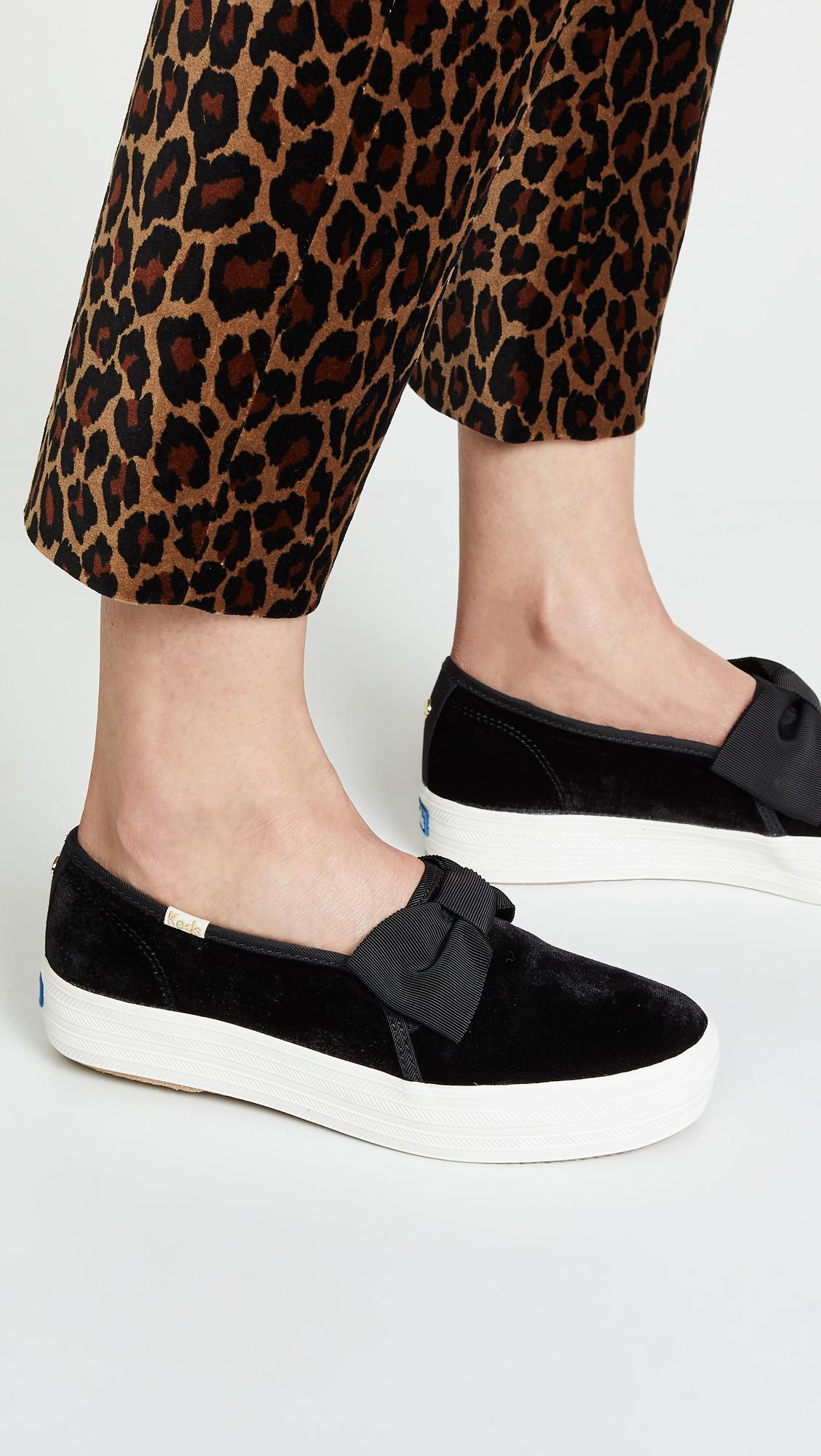 025d800c7 Keds X Kate Spade New York Triple Decker Sneakers in Black - Lyst