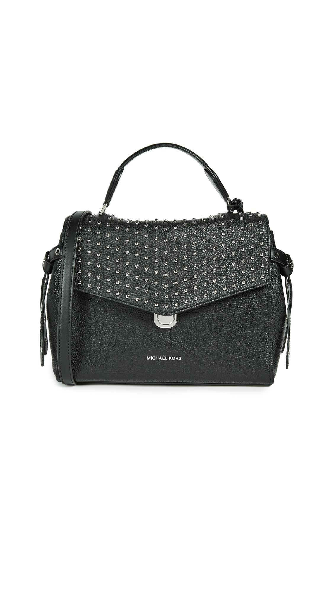 9baec6cc5693 ... cheapest lyst michael michael kors bristol medium satchel in black  ab045 2338a