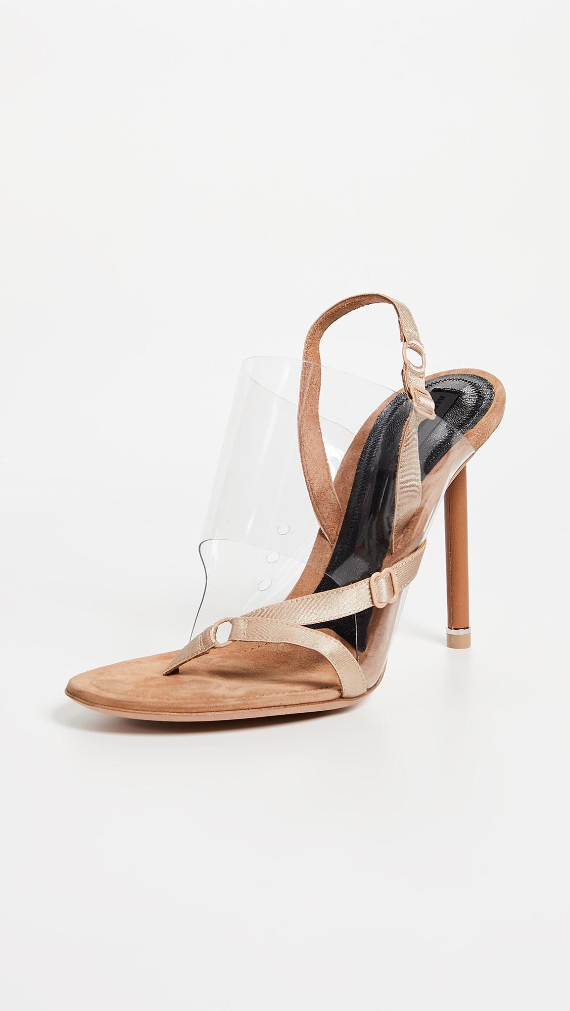d5786ffd610 Lyst - Alexander Wang Kaia High Heel Sandals in Natural