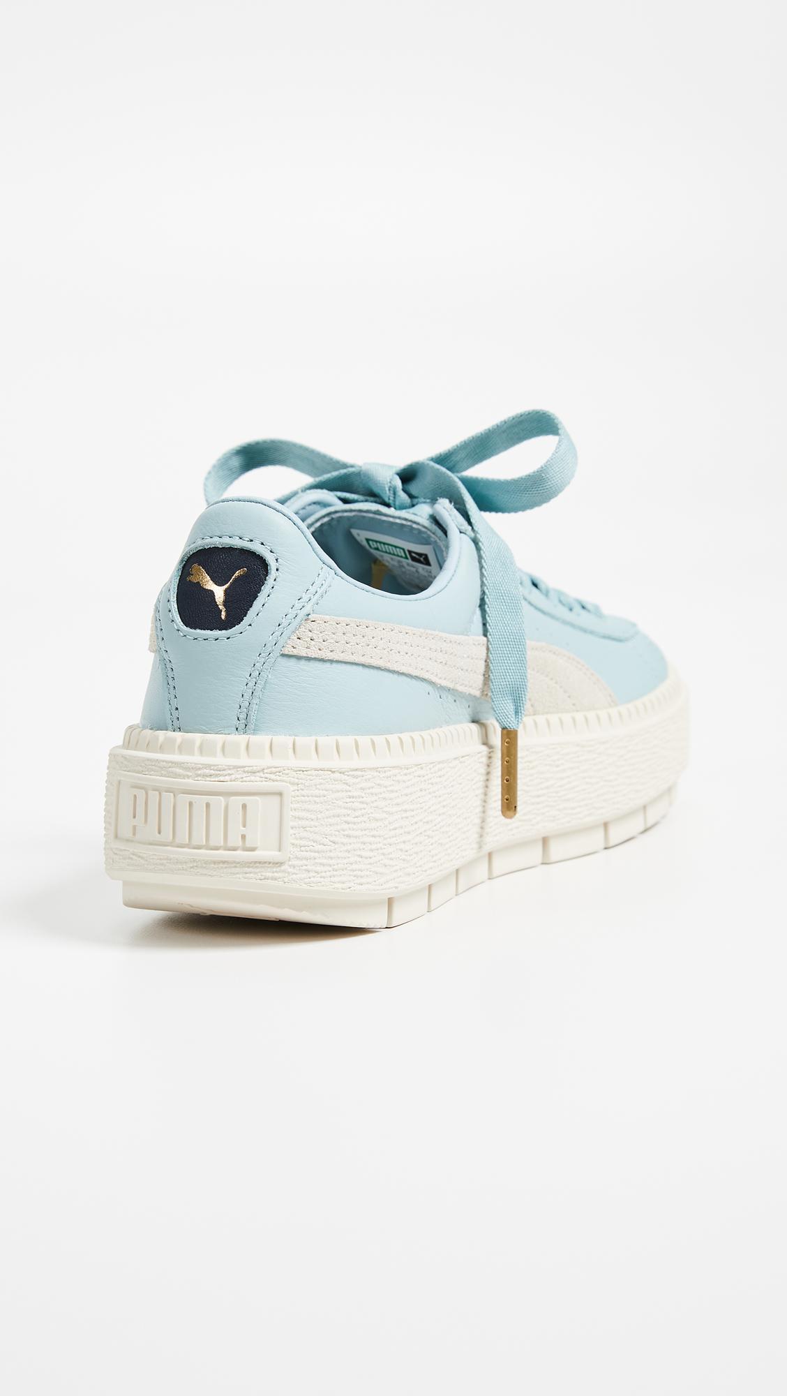 online retailer d1d14 b2dd0 Women's Blue Basket Platform Trace Block Sneakers