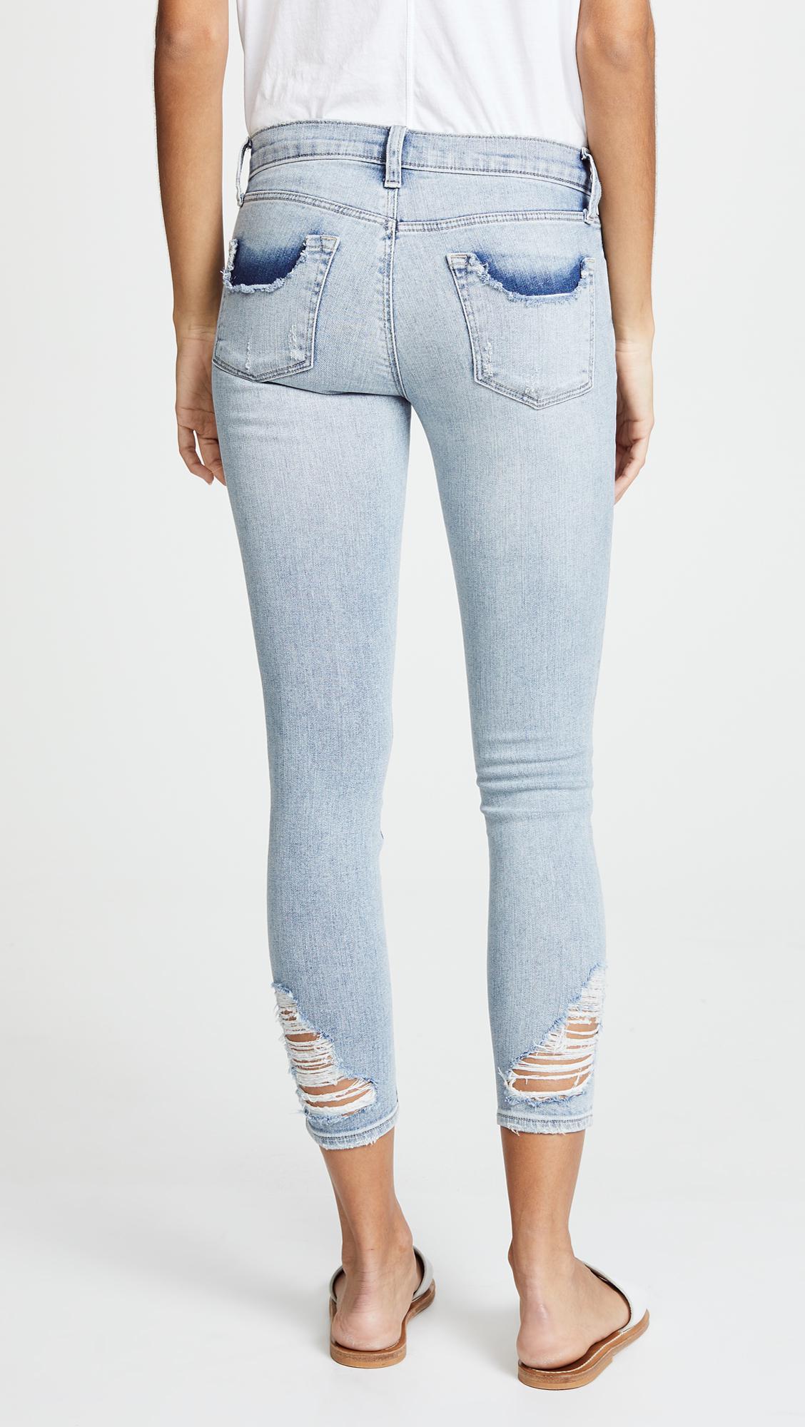 J Brand Denim 9326 Cropped Skinny Jeans in Blue