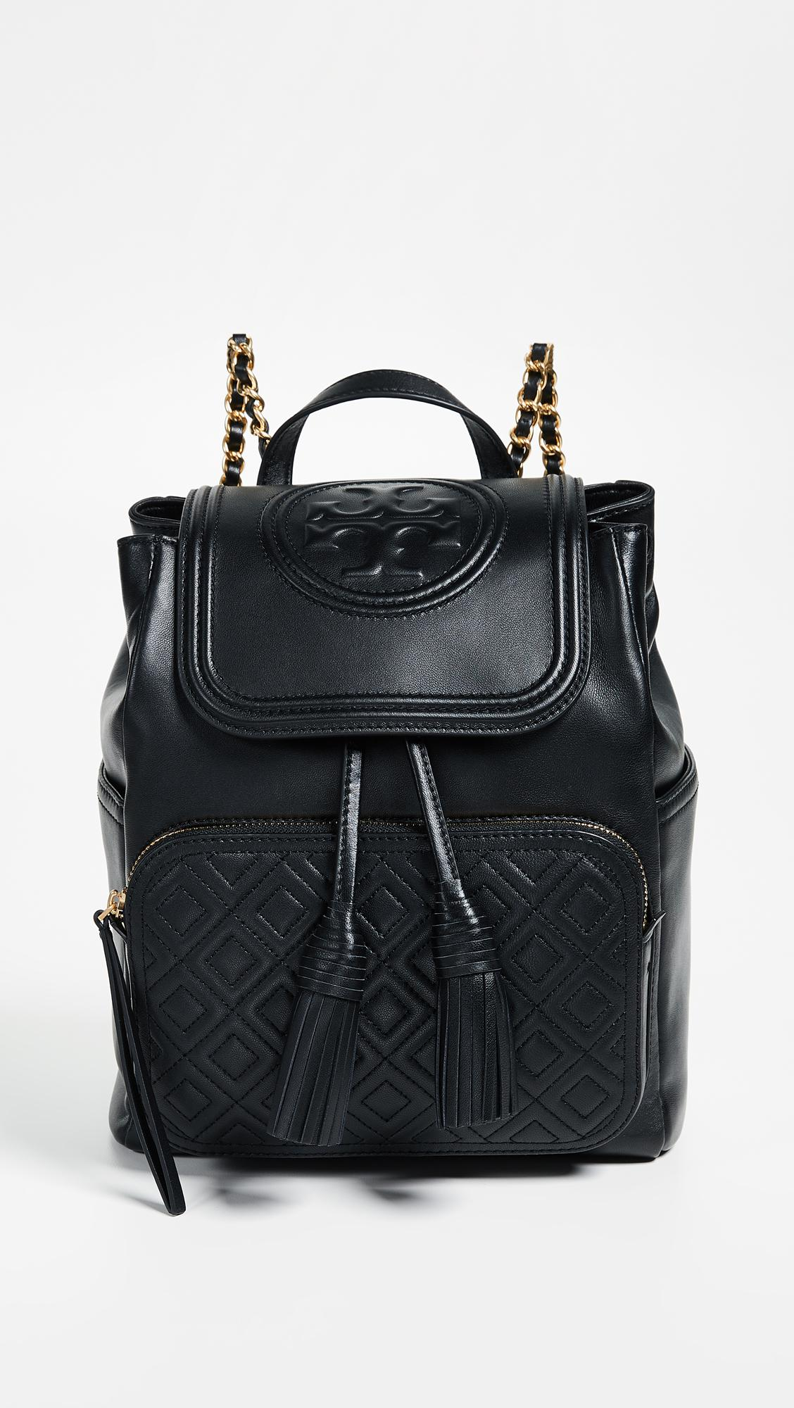 7c8e89920d1 Tory Burch Fleming Backpack in Black - Save 37% - Lyst