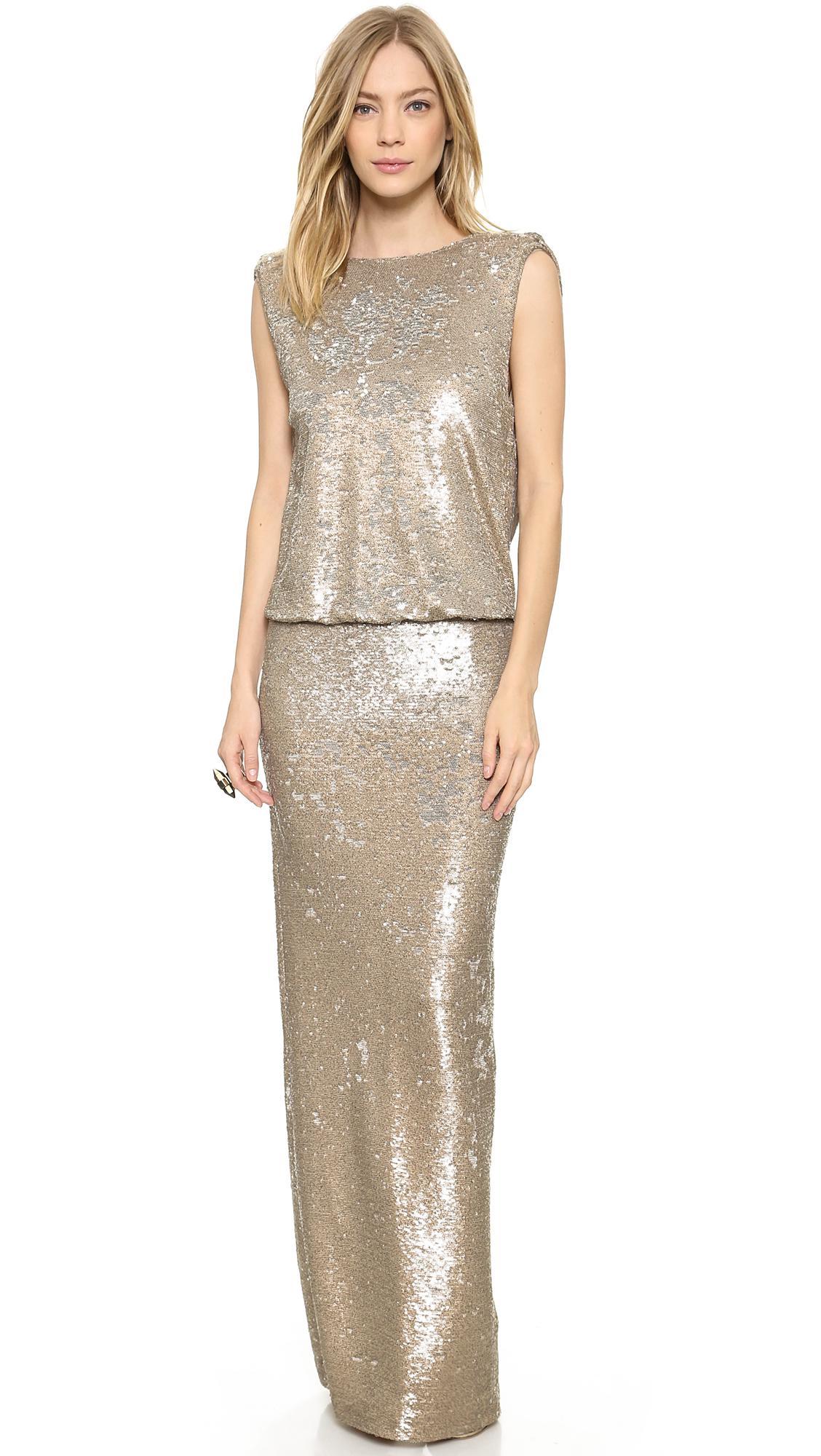 9c347b05f2cbc Rachel Zoe Colette Sequin Gown in Metallic - Lyst