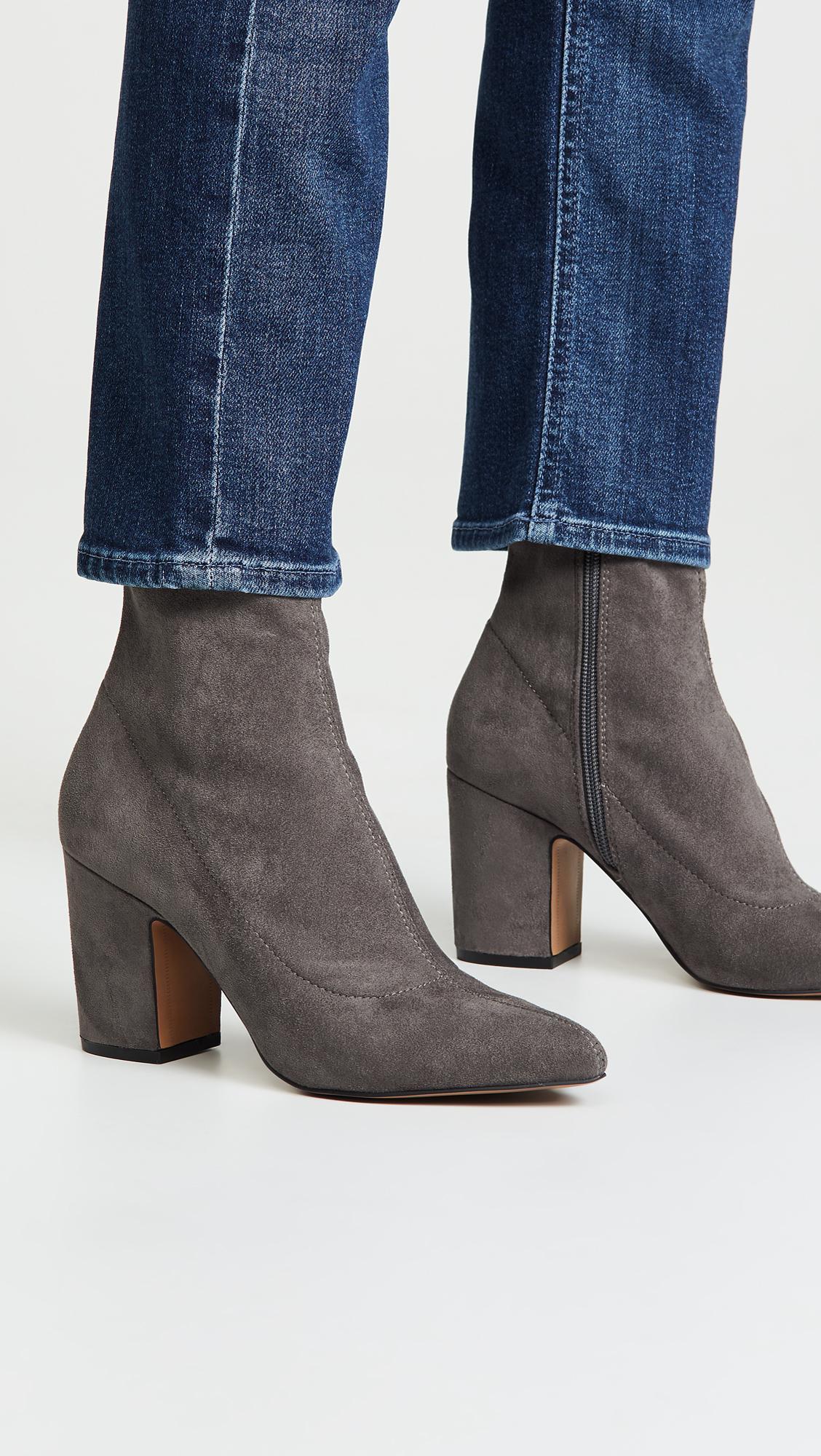 6564df62882 Women's Gray Leandra Block Heel Ankle Booties