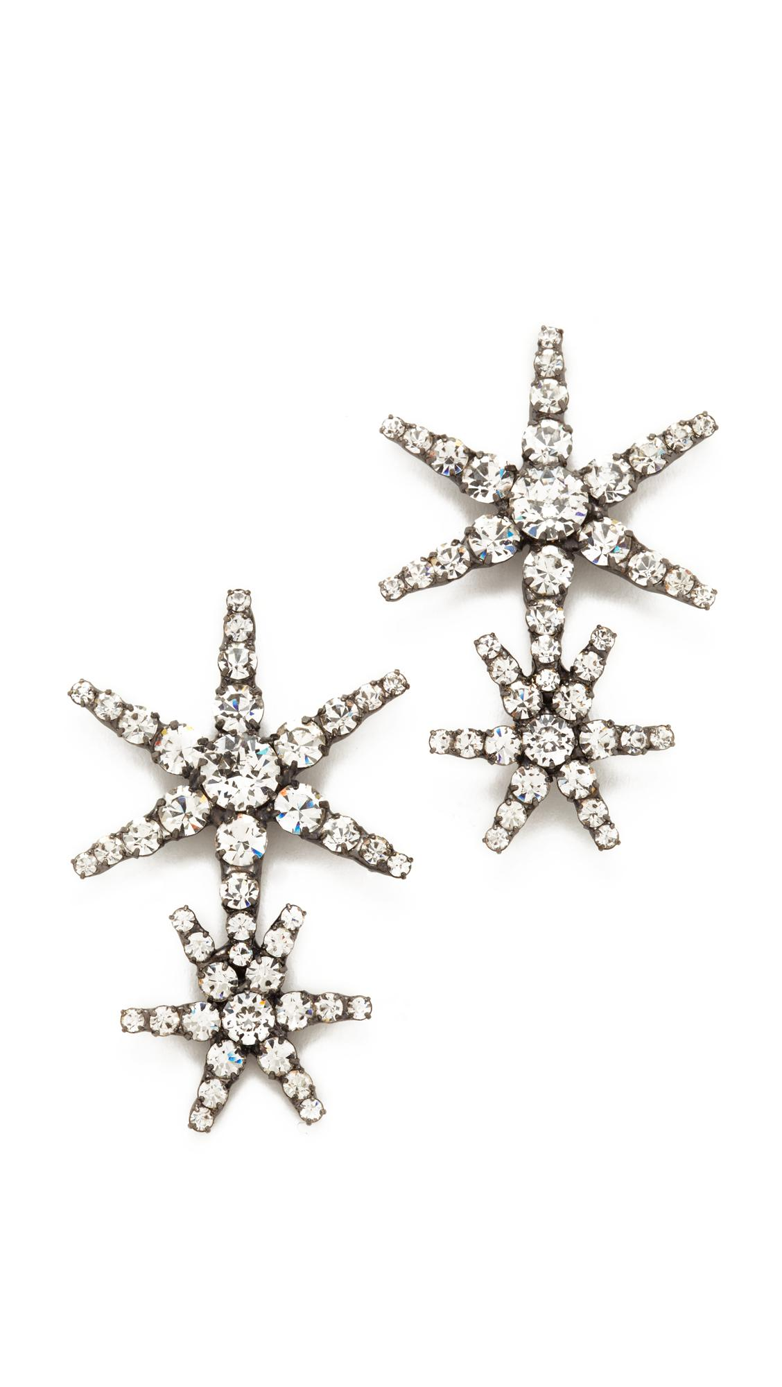 Starburst crystal earrings Jennifer Behr 7E9U69on6
