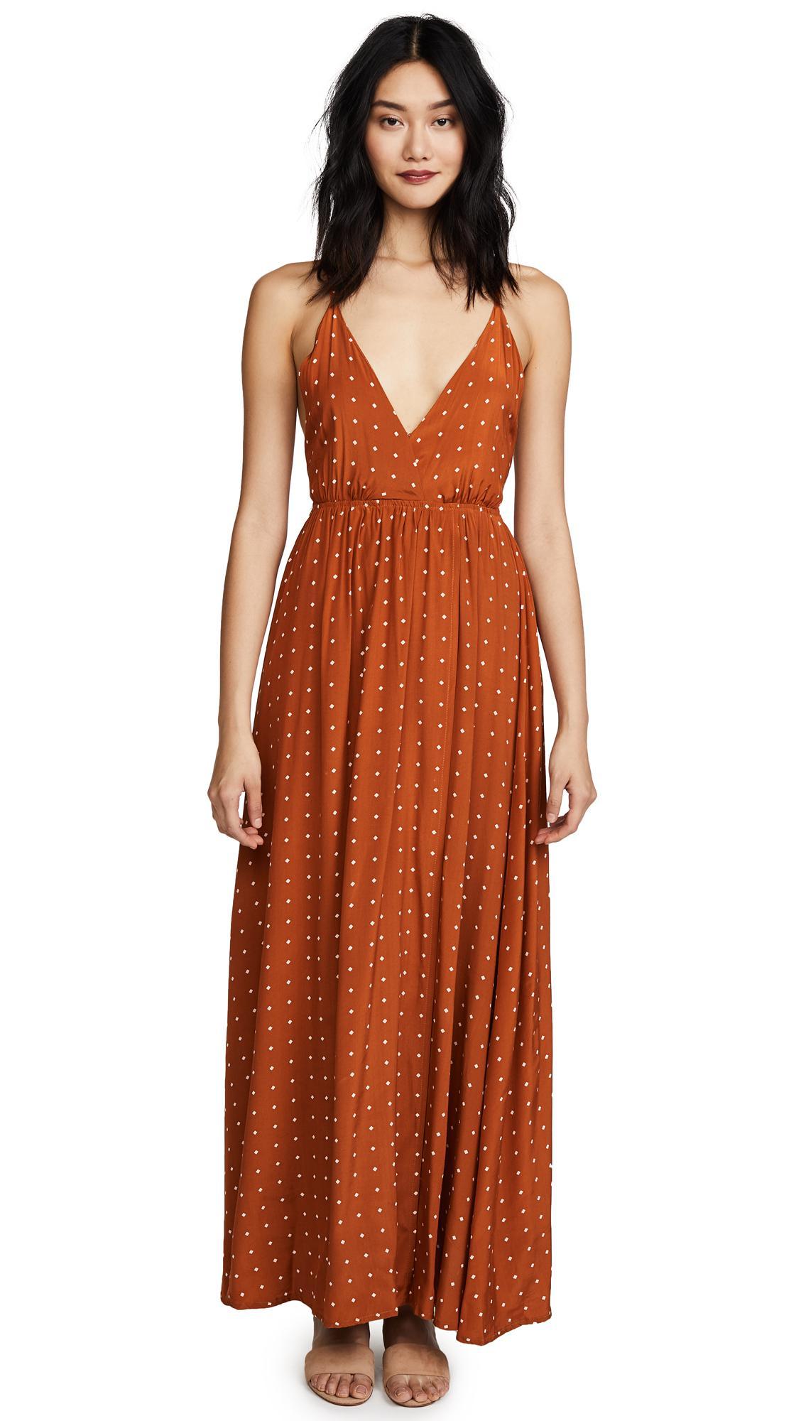 31cc59eb11 Faithfull The Brand Santa Rosa Maxi Dress in Orange - Lyst