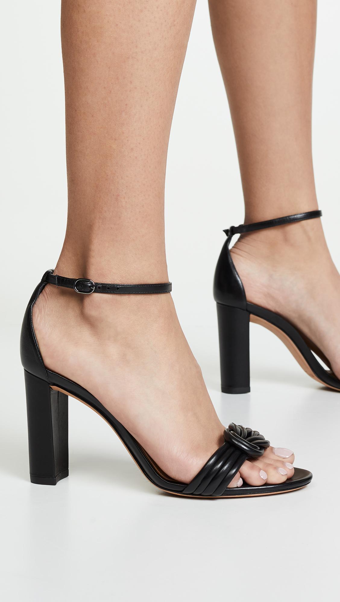 Chiara 90mm Block Sandals in Black