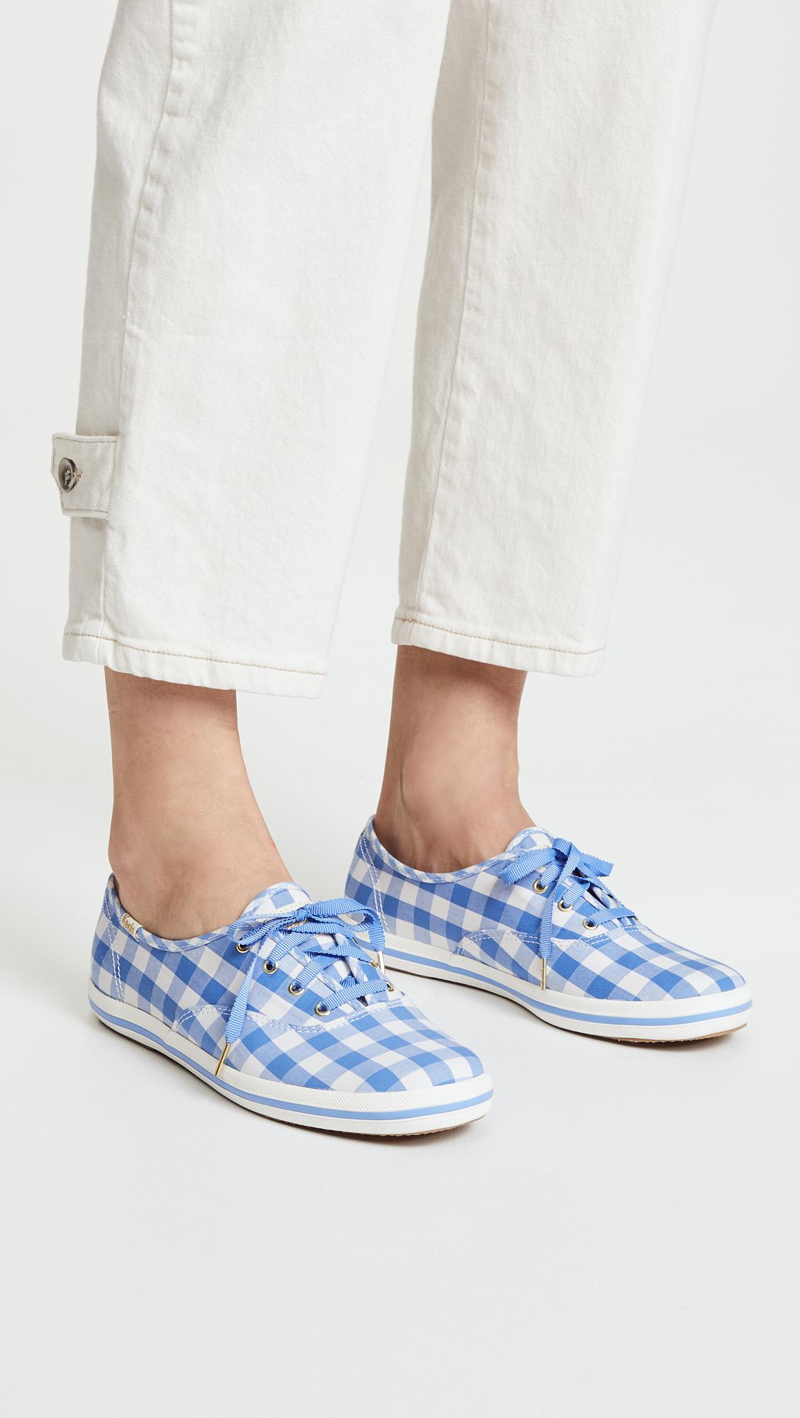 9283953e0aa56 Lyst - Keds X Kate Spade New York Gingham Sneakers in Blue