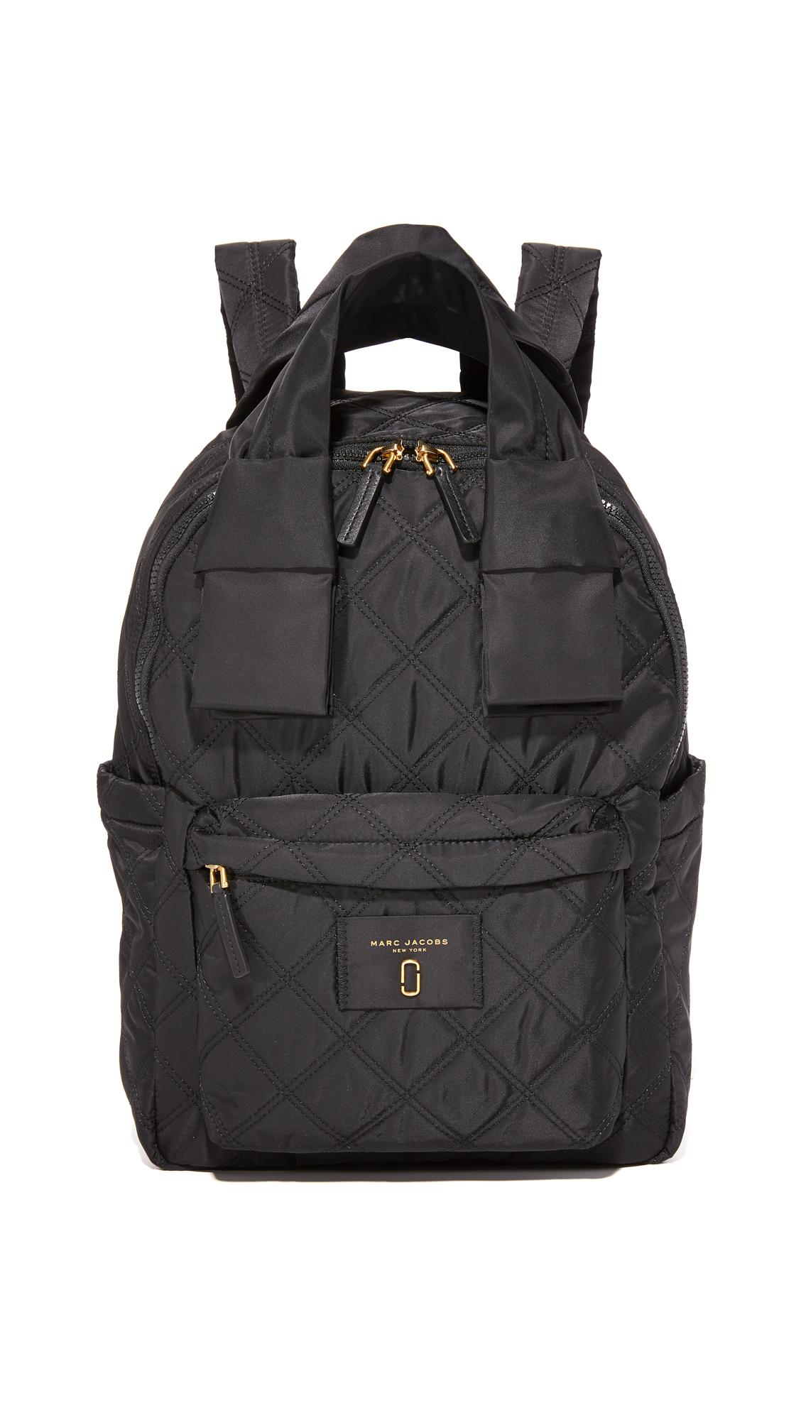 lyst marc jacobs nylon knot large backpack in black. Black Bedroom Furniture Sets. Home Design Ideas