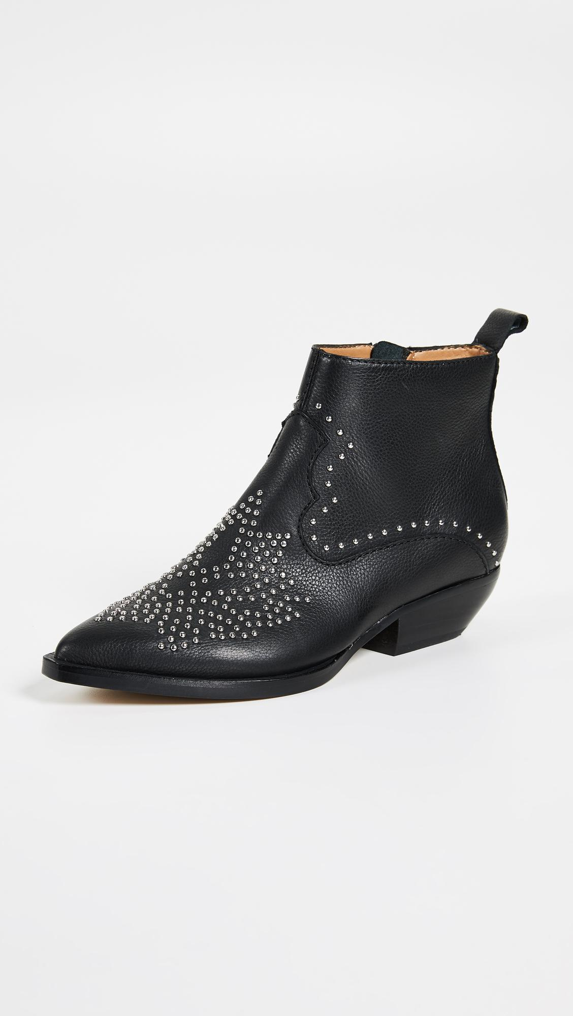 Uma Studded Chelsea Western Inspired Booties h23XVXNjSY
