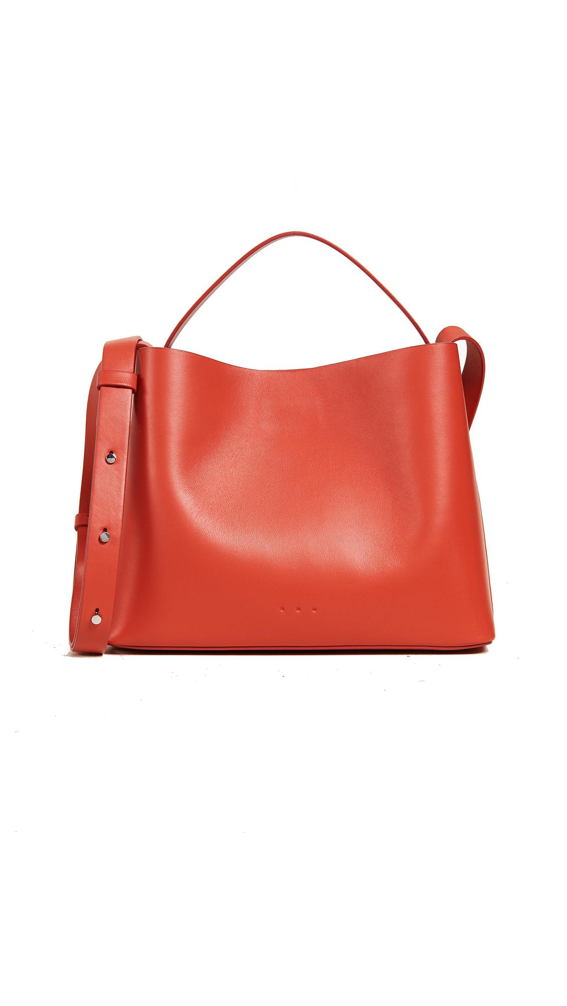 Aesther Ekme Leather Mini Sac Tote Bag in Electric Red (Red)