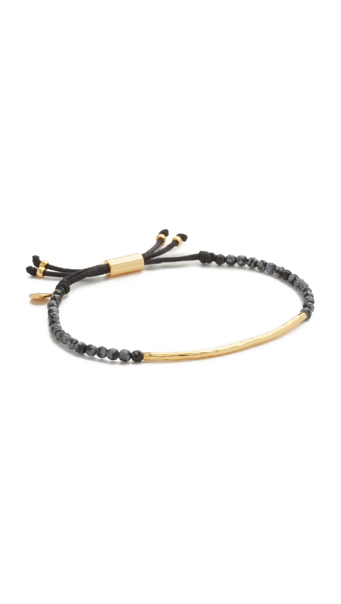 Gorjana Power Gemstone Bracelet in Metallic Gold zONiAVkB