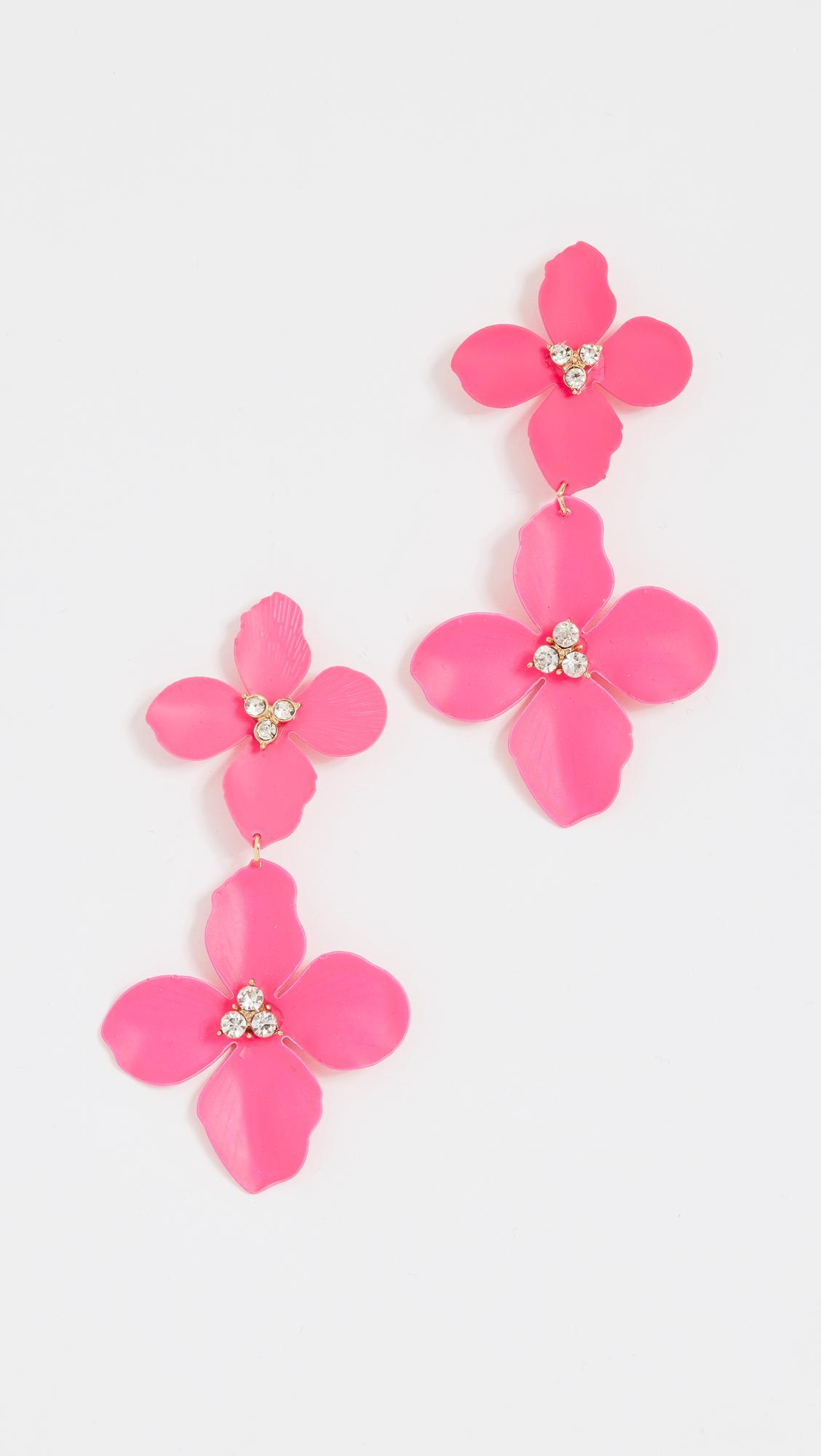 BaubleBar Double Four Flower Petal Drop Earrings D7bvhK7mO