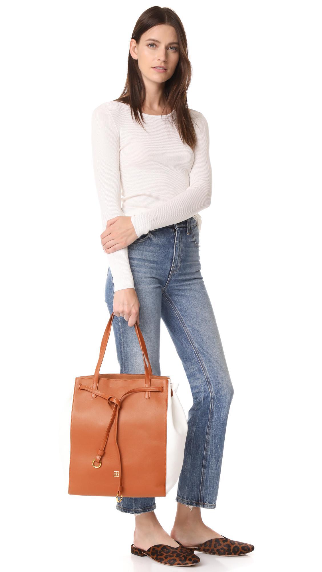 Parisa Wang Leather Addicted Tote in Brown