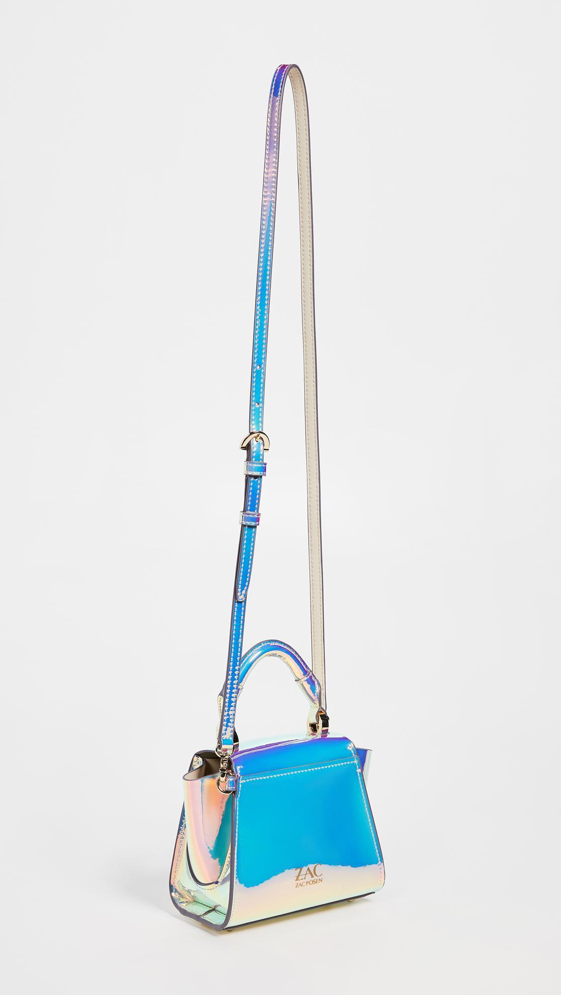 Zac Zac Posen Eartha Iridescent Mini Top Handle Bag In