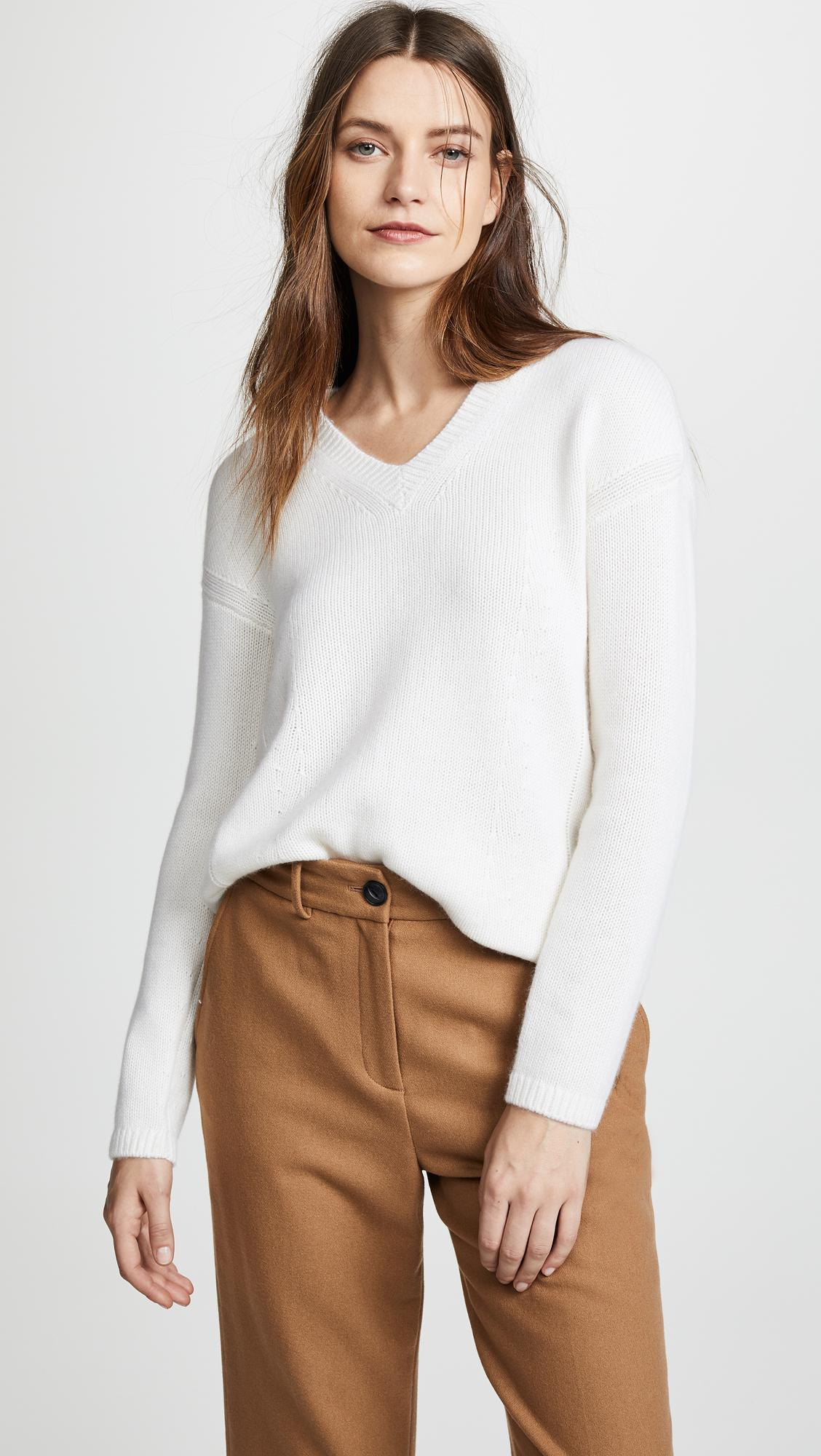 0623d094fa Lyst - Tse Cocoon Back Cashmere Sweater in White