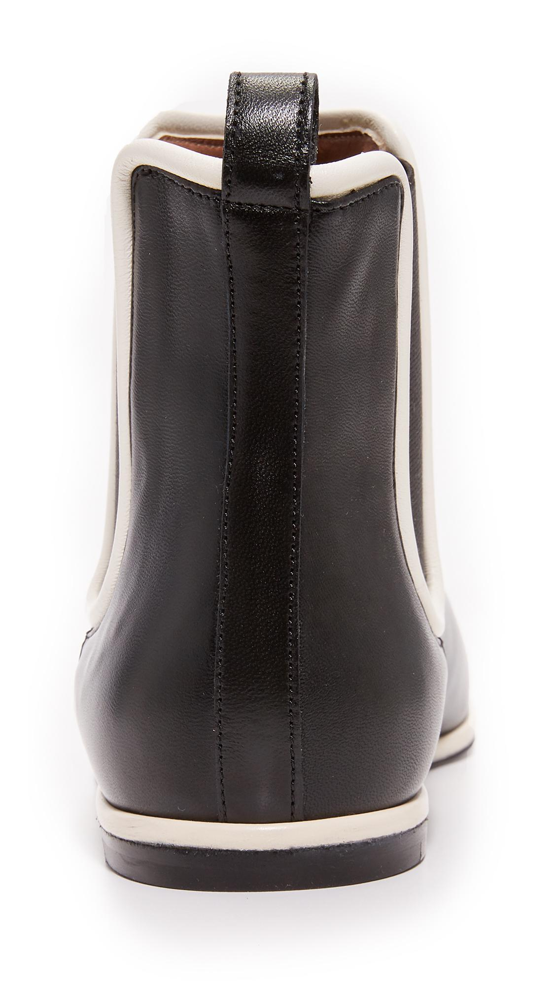 Marni Rubber Ankle Booties in Black/Antique White (Black)