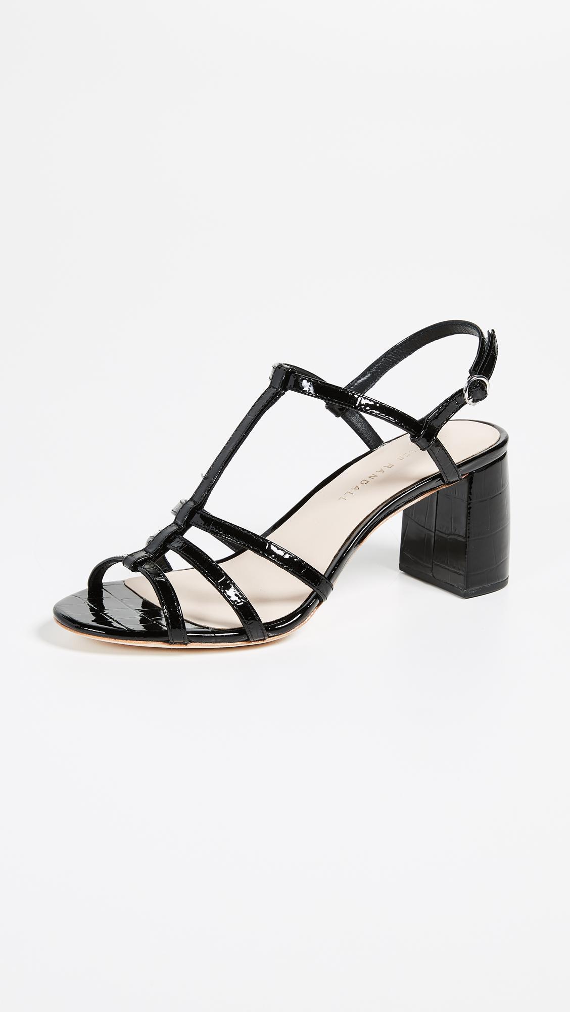 Loeffler Randall Elena Strappy Leather Slingback Sandals kxKUm