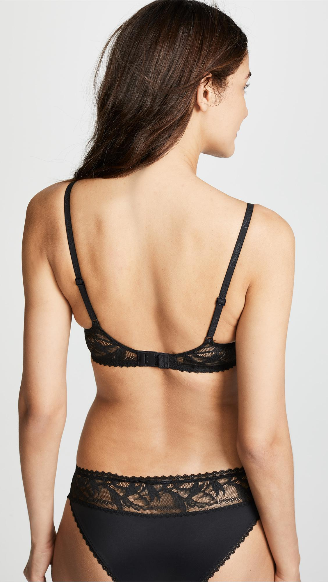 2a944353502 Calvin Klein - Black Perfectly Fit Perennial Lightly Lined Plunge Bra -  Lyst. View fullscreen