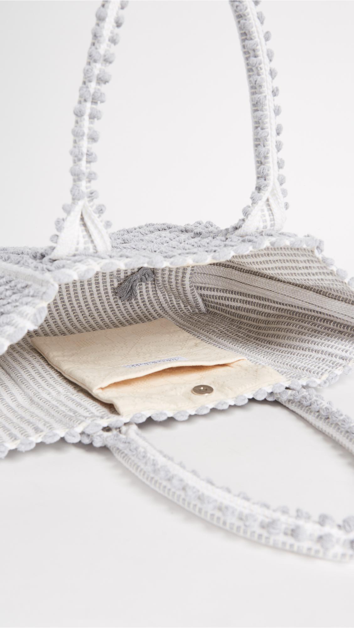 Antonello Urtei Tote in White/Grey (Grey)