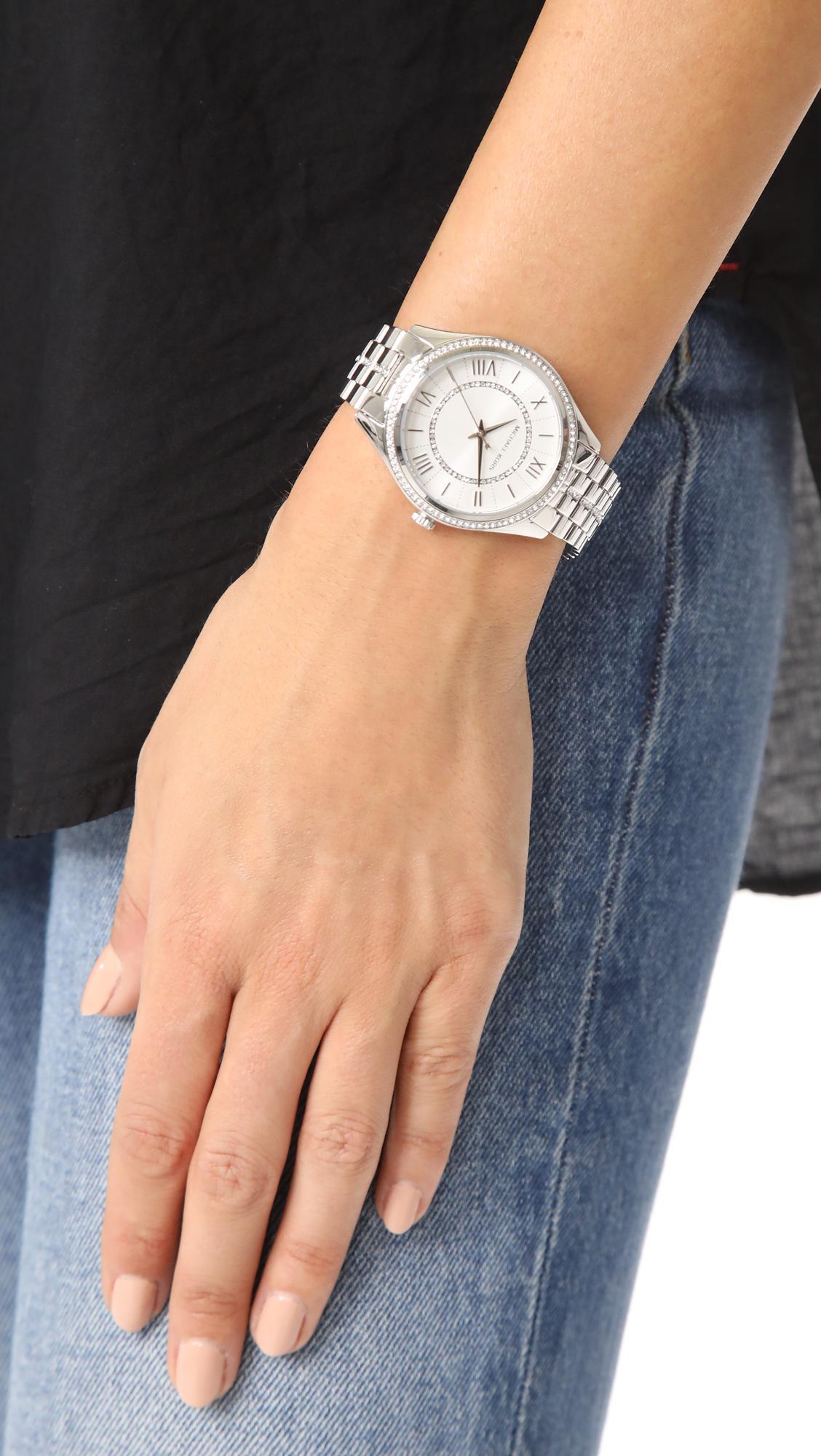 c292e3a89982 Lyst - Michael Kors Lauryn Watch in Metallic