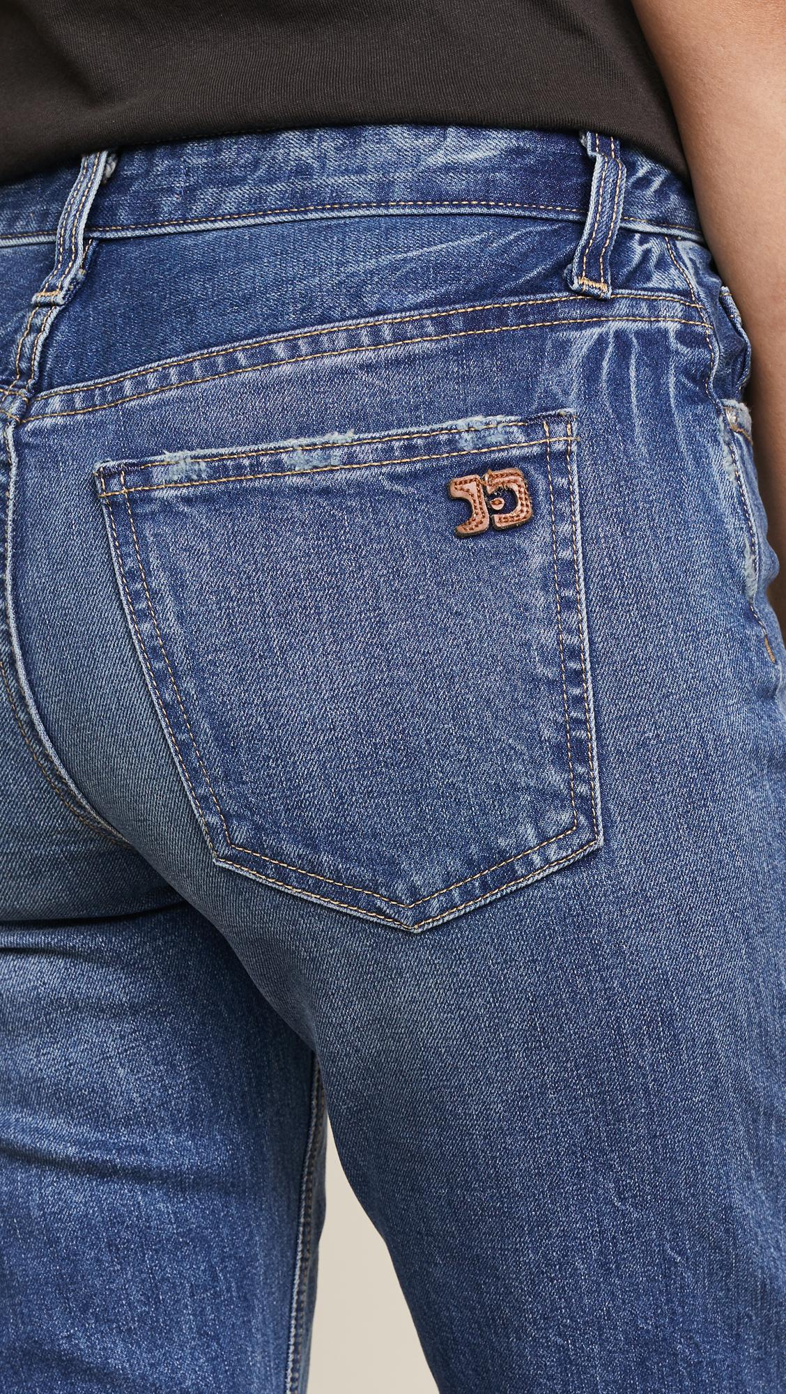 Joe's Jeans Denim The Icon Skinny Ankle Jeans With Mid Rise in Blue