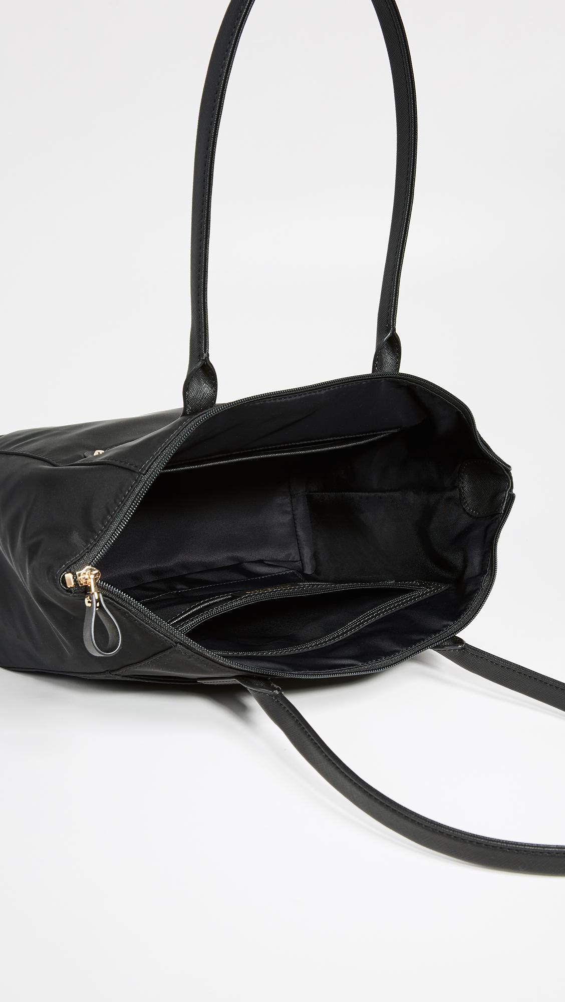 MICHAEL Michael Kors Synthetic Nylon Kelsey Medium Top Zip Tote in Black/Gold (Black)