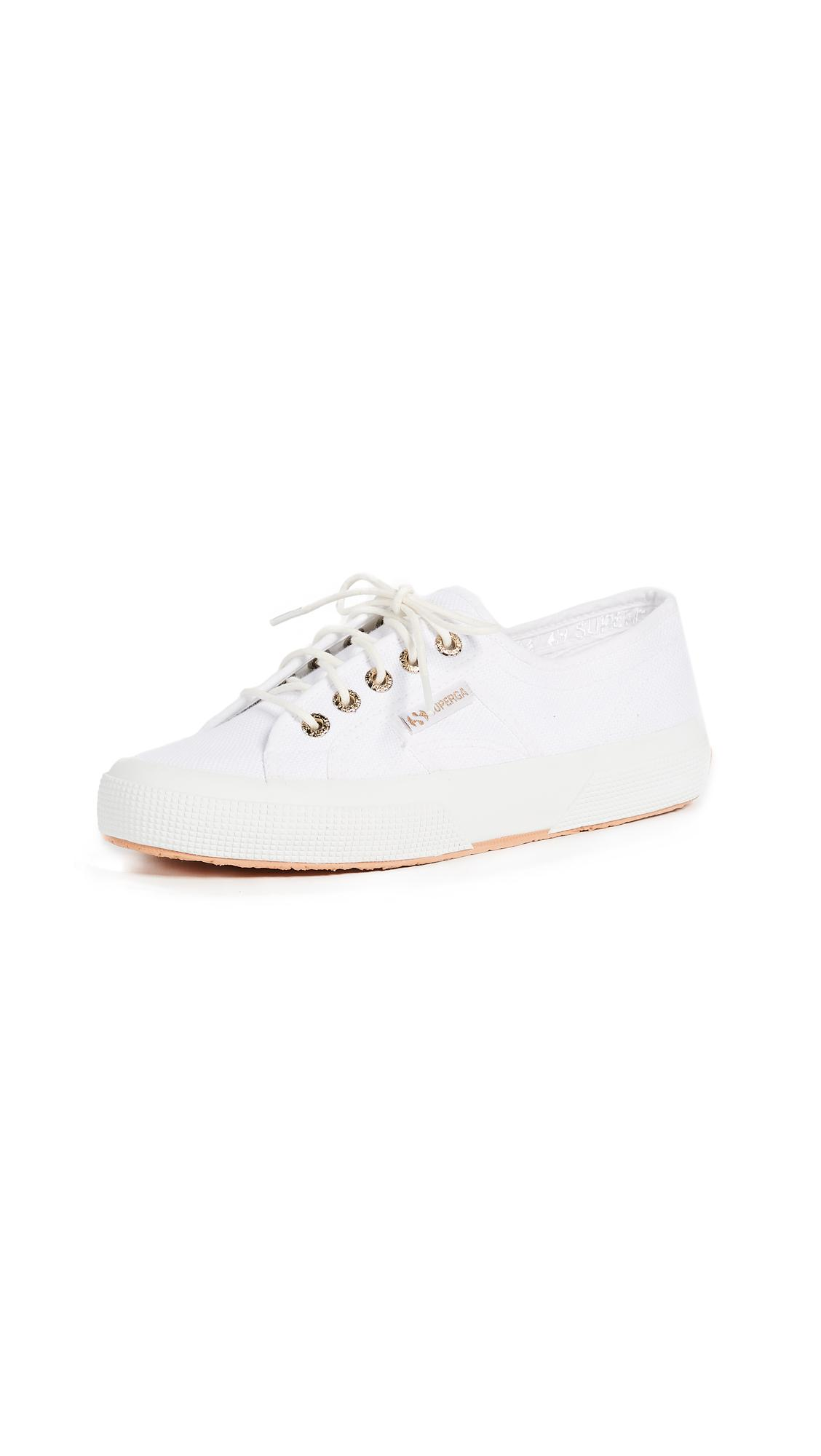 Superga Canvas 2750 Sant Ambroeus Laceup Sneakers in White
