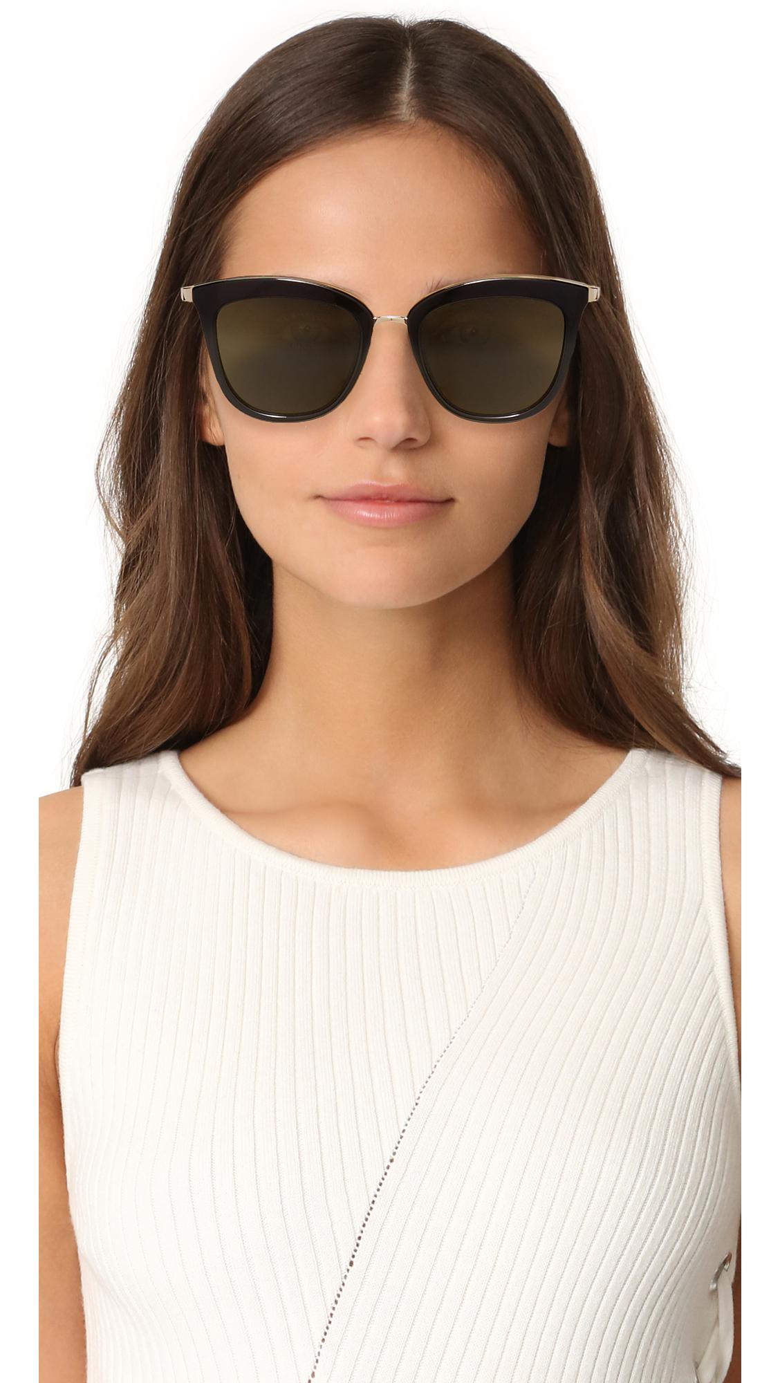 97720a72b99 Lyst - Le Specs Caliente Sunglasses in Natural