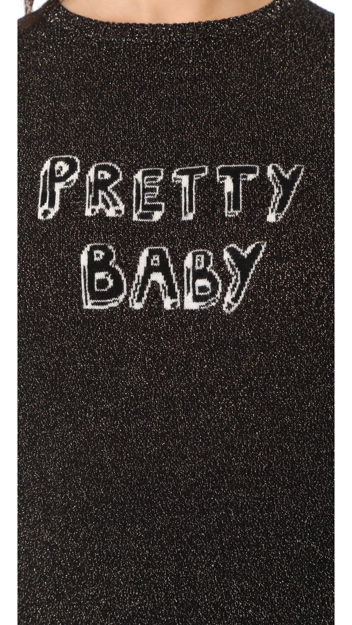 2635d43b2 J Brand X Bella Freud Sparkle Pretty Baby Jumper in Black - Lyst