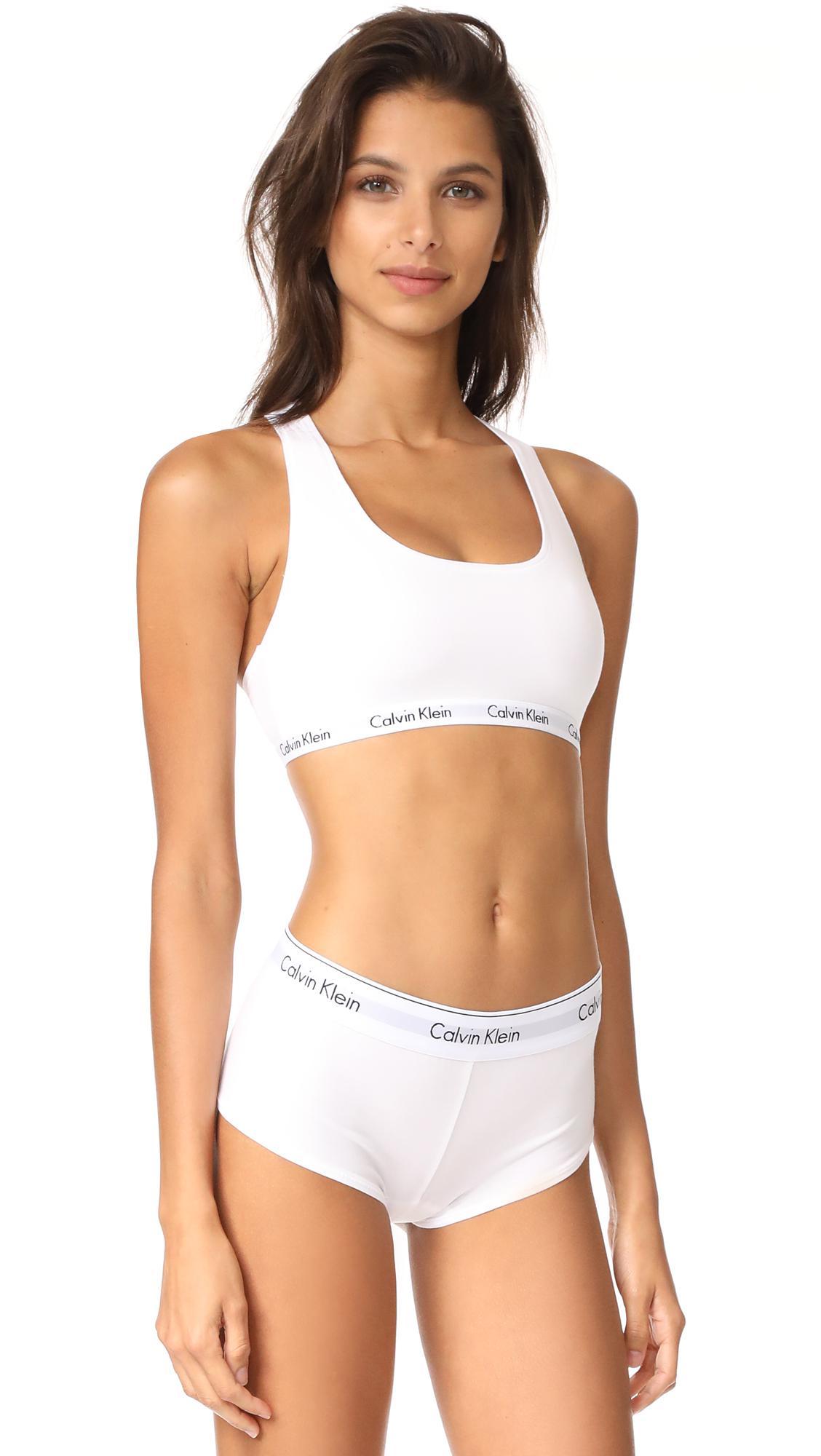 0c6ed2de2c2 Lyst - Calvin Klein Carousel Bralette in White