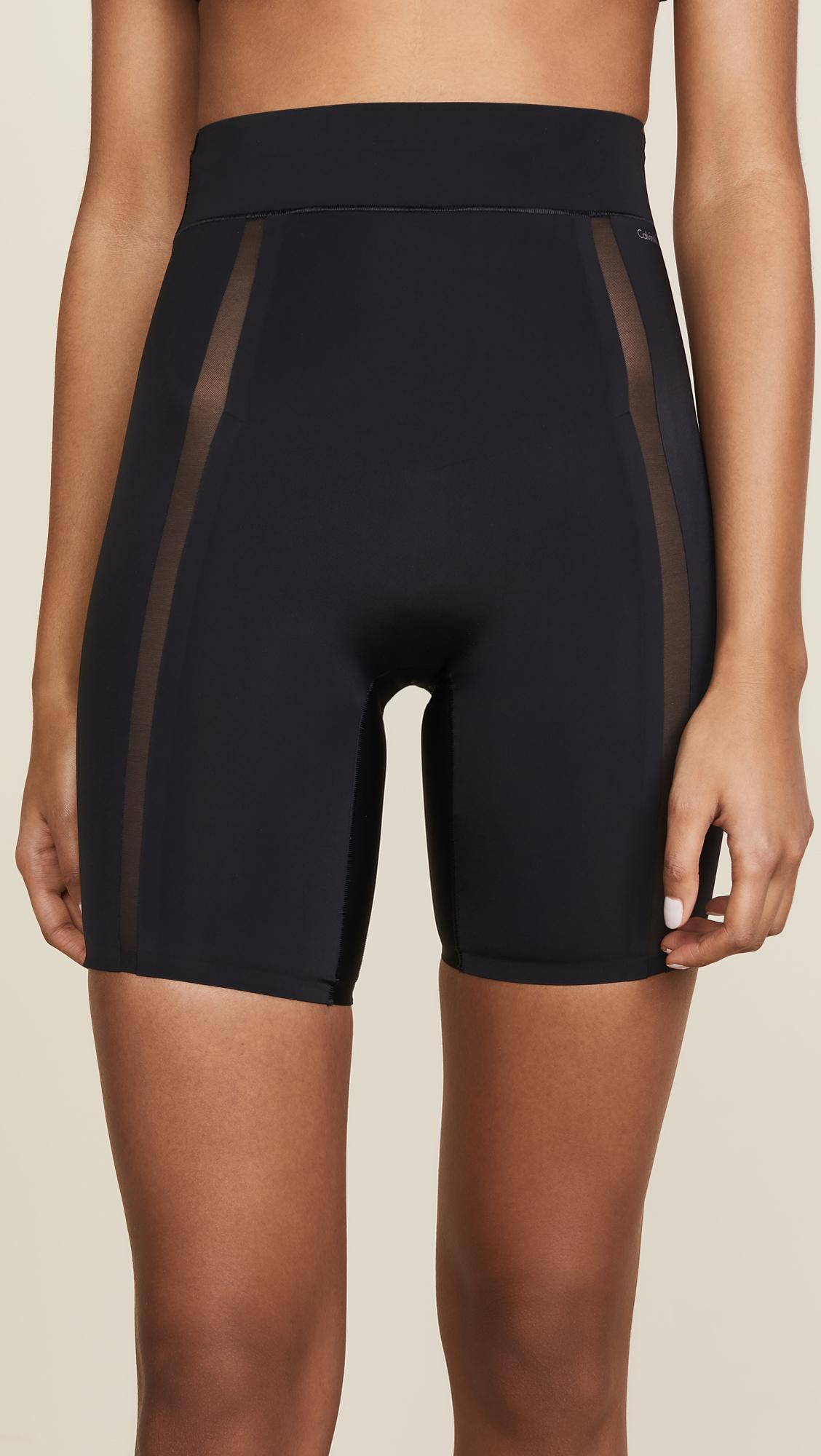 6531a721a5 Lyst - Calvin Klein Short Thigh Slimmer in Black