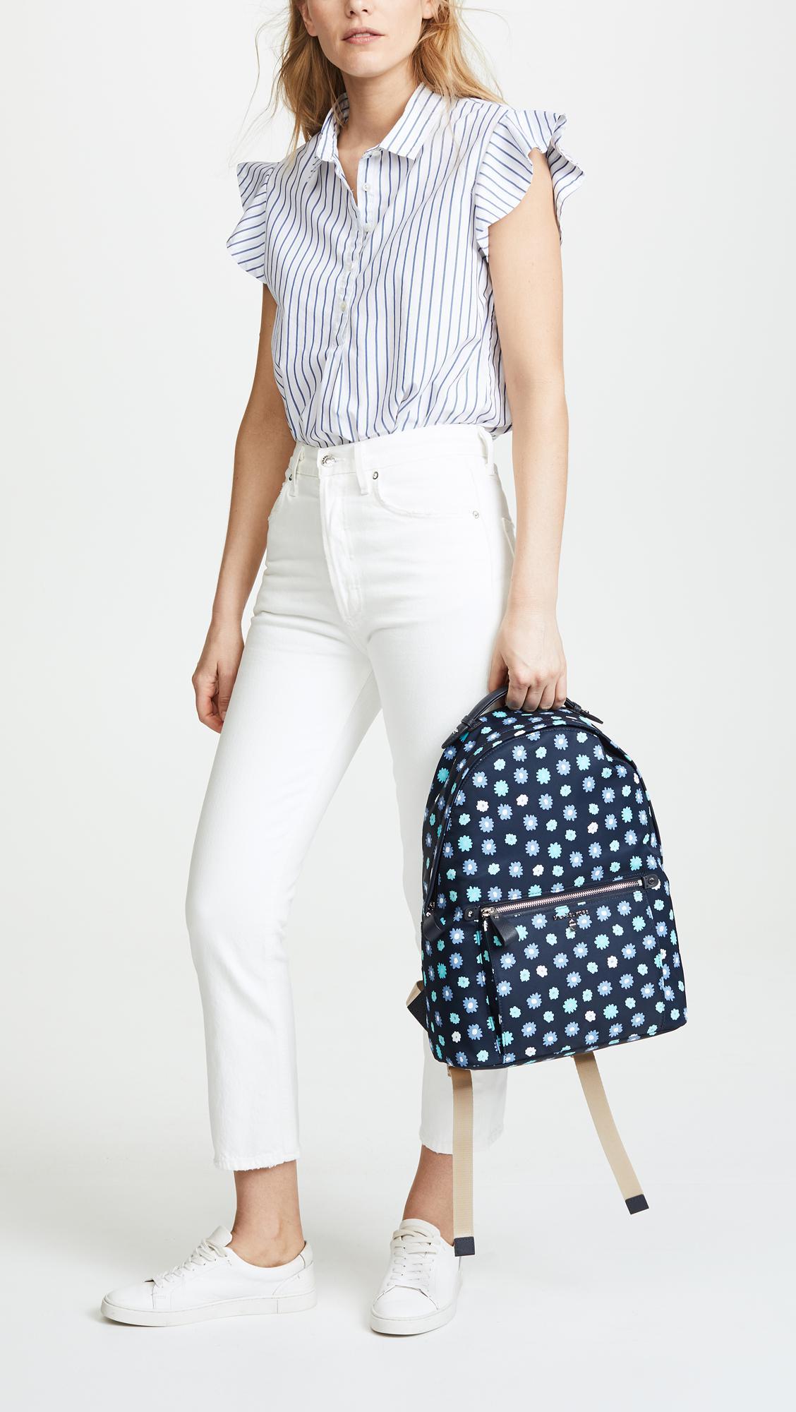 MICHAEL Michael Kors Synthetic Nylon Kelsey Large Backpack in Blue