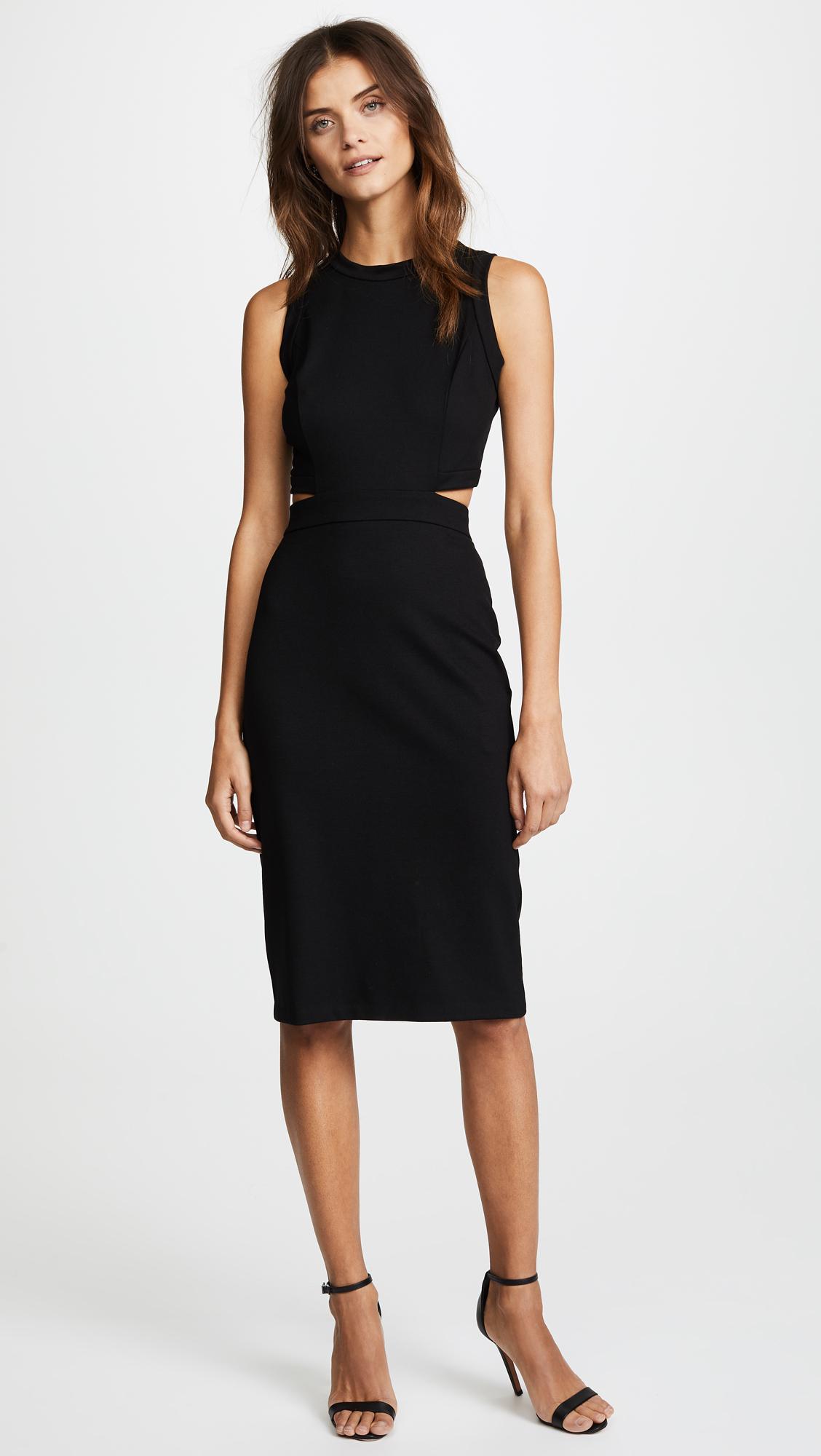 Amanda Uprichard Synthetic Shaina Dress In Black Lyst