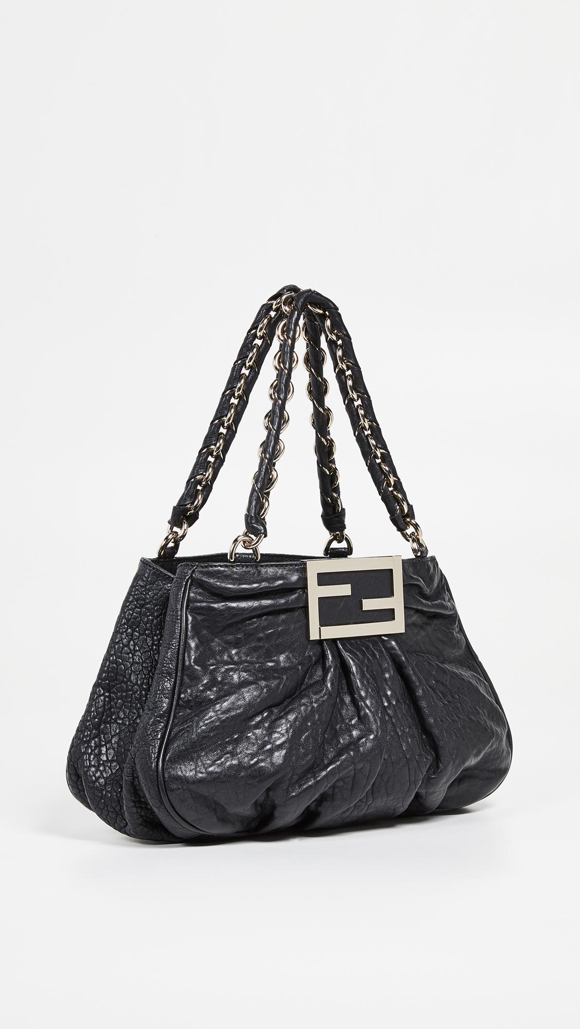 817e15850db1 What Goes Around Comes Around Fendi Small Mia Bag in Black - Lyst