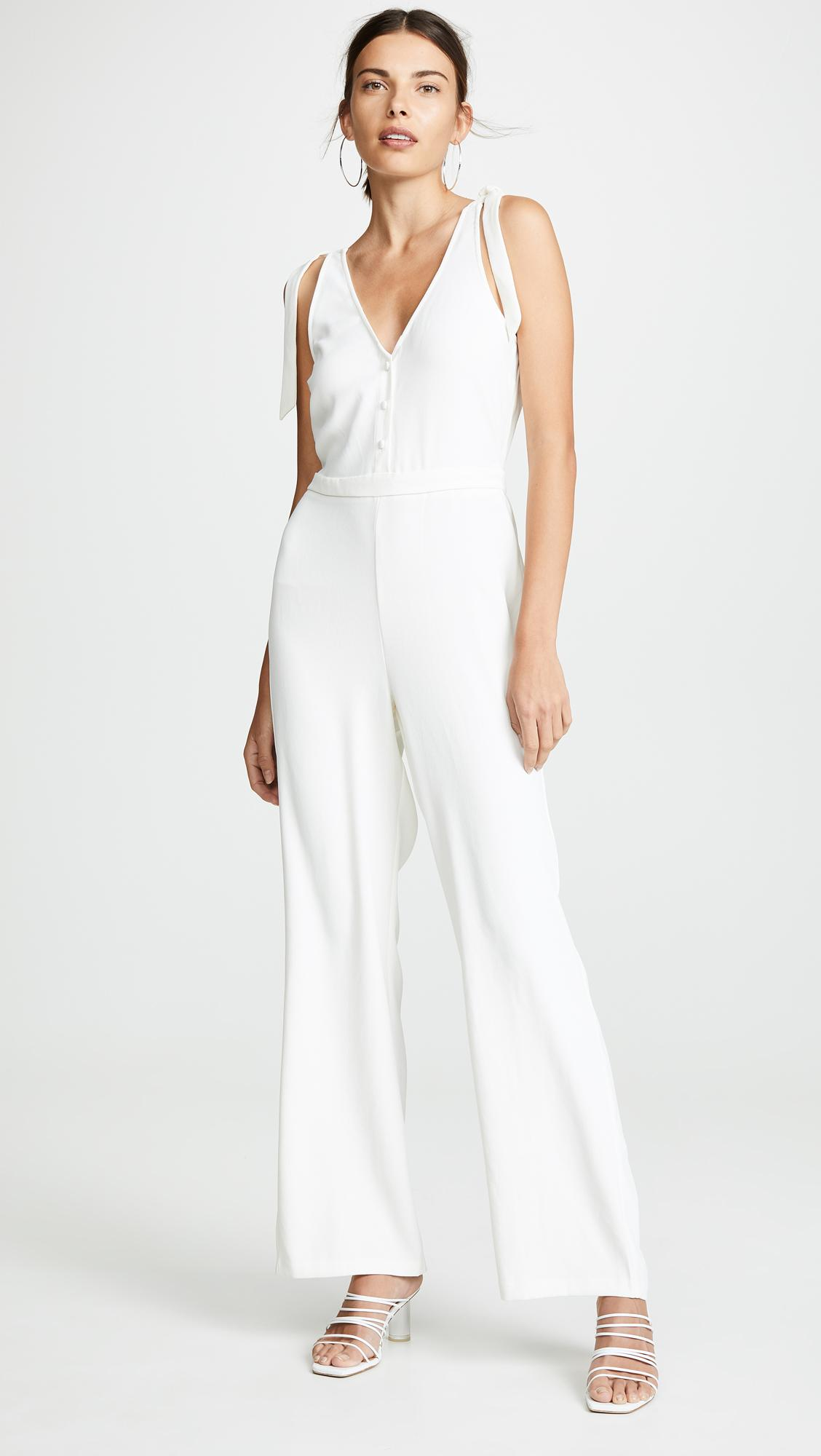 6438fd43d735 Lyst - Cupcakes And Cashmere Topeka Jumpsuit in White