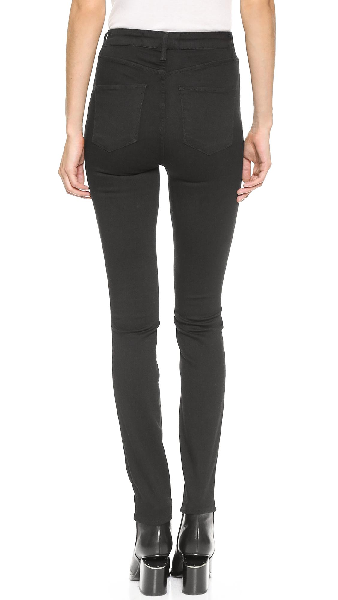 Ayr High Rise Skinny Jeans - Jet Black