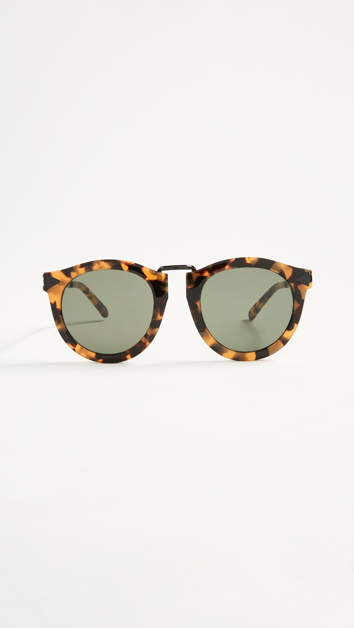 Harvest Rose Gold-Tone Metal and Tortoiseshell Acetate Sunglasses Karen Walker E63Zvgs3aB