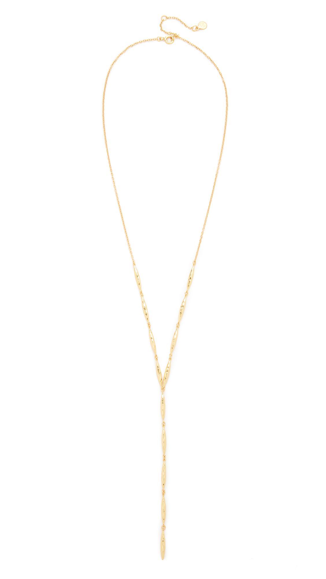 Gorjana Nora Lariat Necklace in Gold (Metallic)