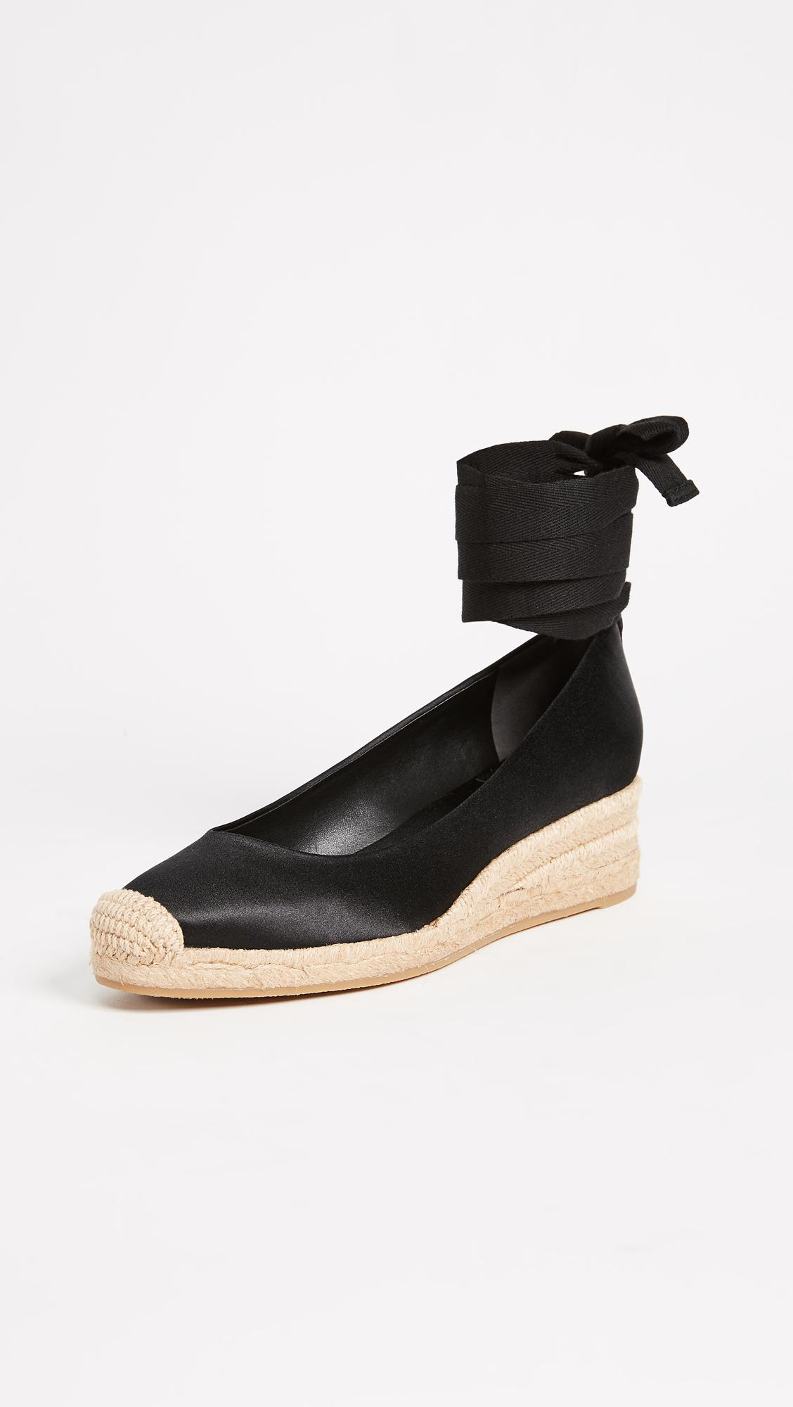 fbcdd05f7 Tory Burch Heather 40mm Wedge Espadrilles in Black - Lyst