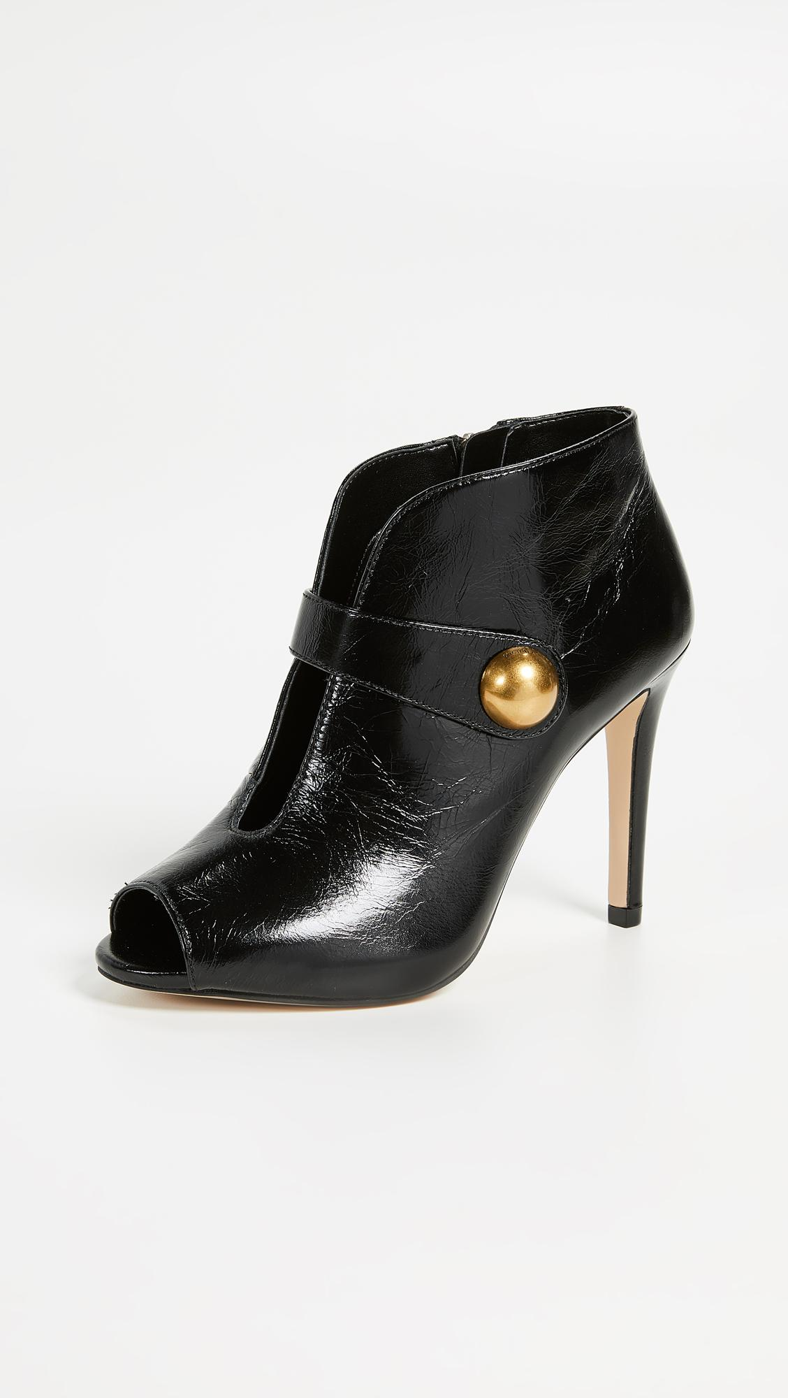 ca67a0cdf15cf MICHAEL Michael Kors Agnes Open Toe Booties in Black - Lyst
